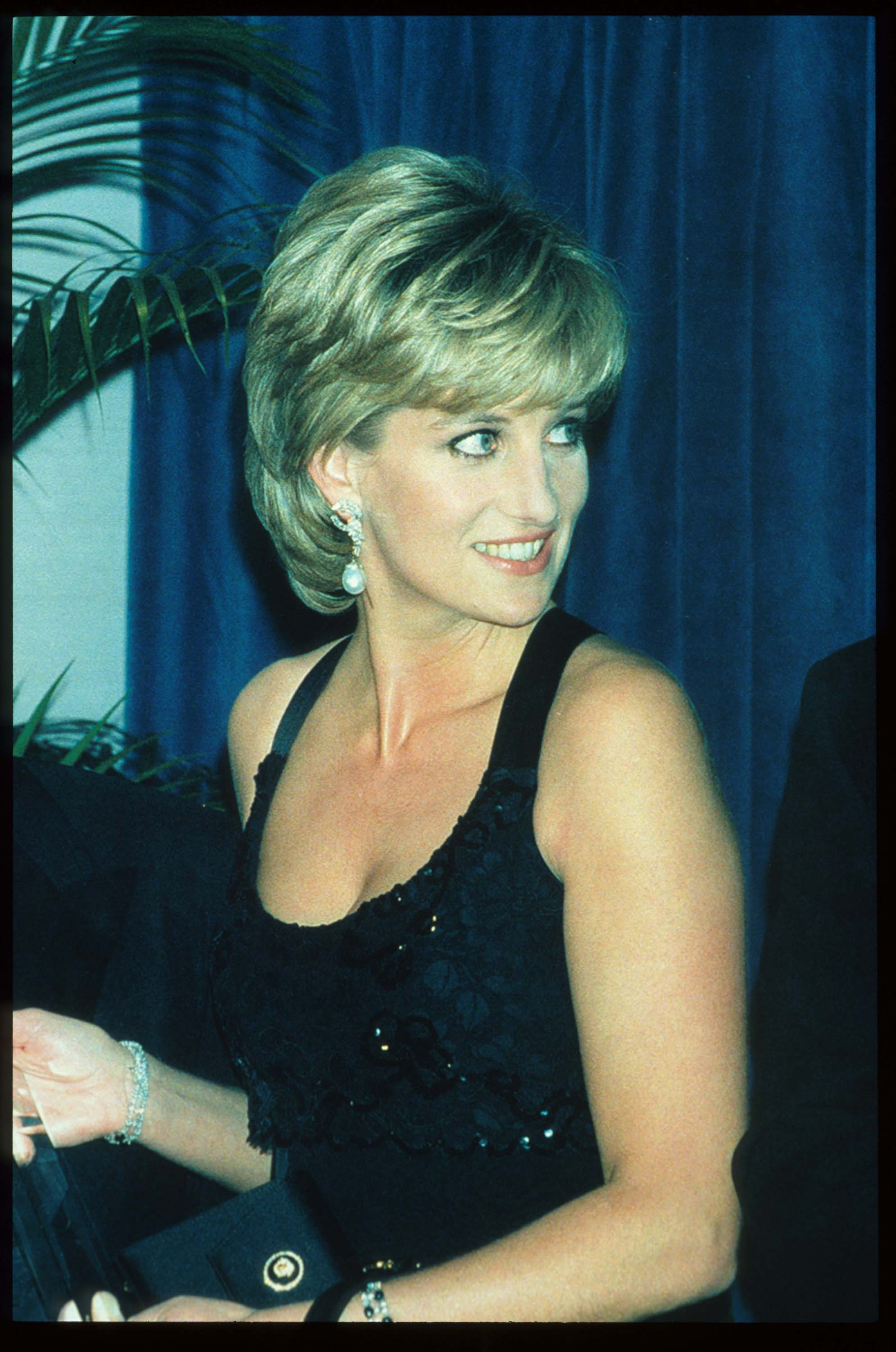 248217 03: Lady Diana Spencer stands at the 41st annual United Cerebral Palsy Awards gala December 11, 1995 in New York City. Lady Diana, the Princess of Wales, received the UCP Humanitarian Award at the fundraising evening. (Photo by Pool/Liaison)