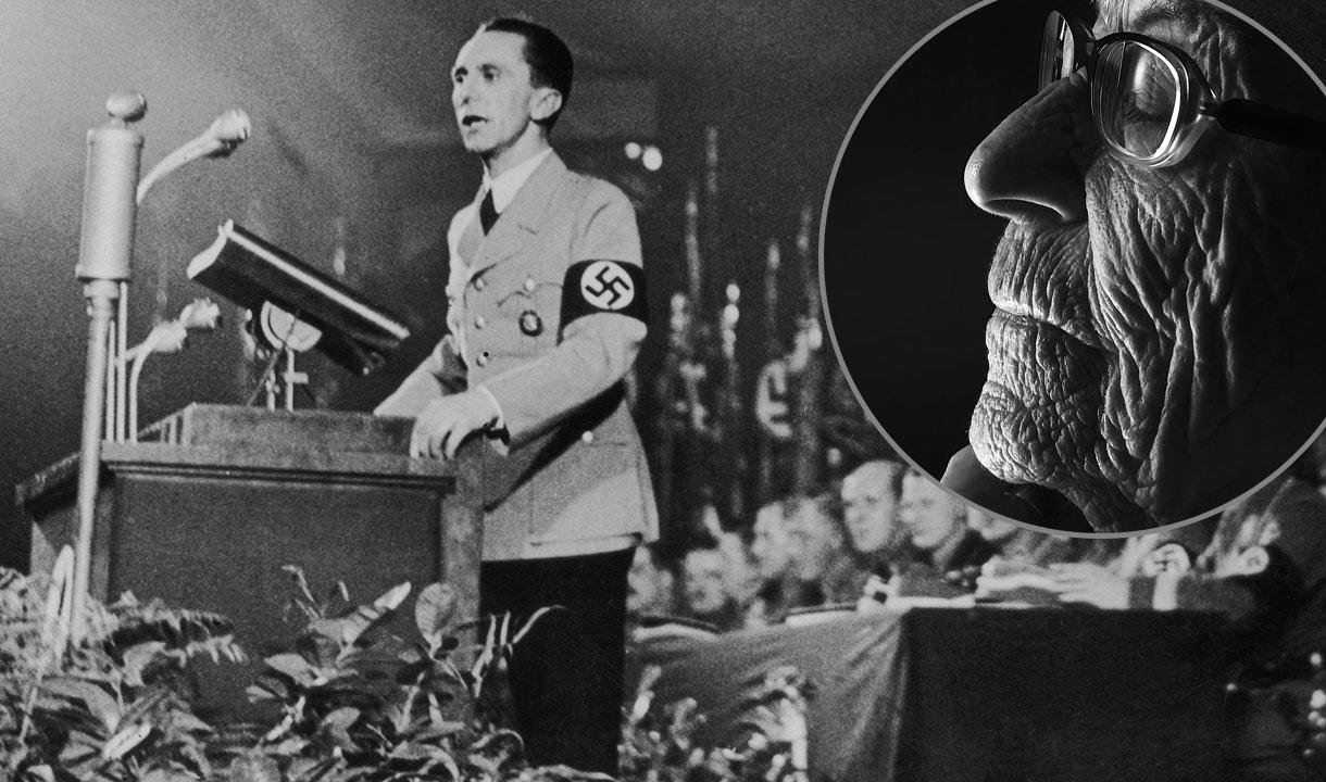 Ministar propagande u nacističkoj Njemačkoj Joseph Goebbels, u krugu: Brunhilde Pomsel