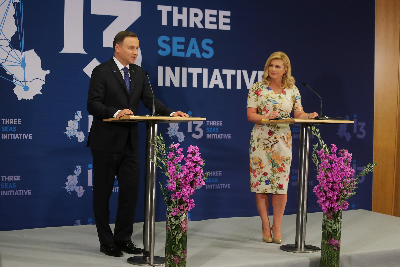 Na slici: predsjednica RH Kolinda Grabar Kitarović i predsjednik Republike Poljske Andrzej Duda