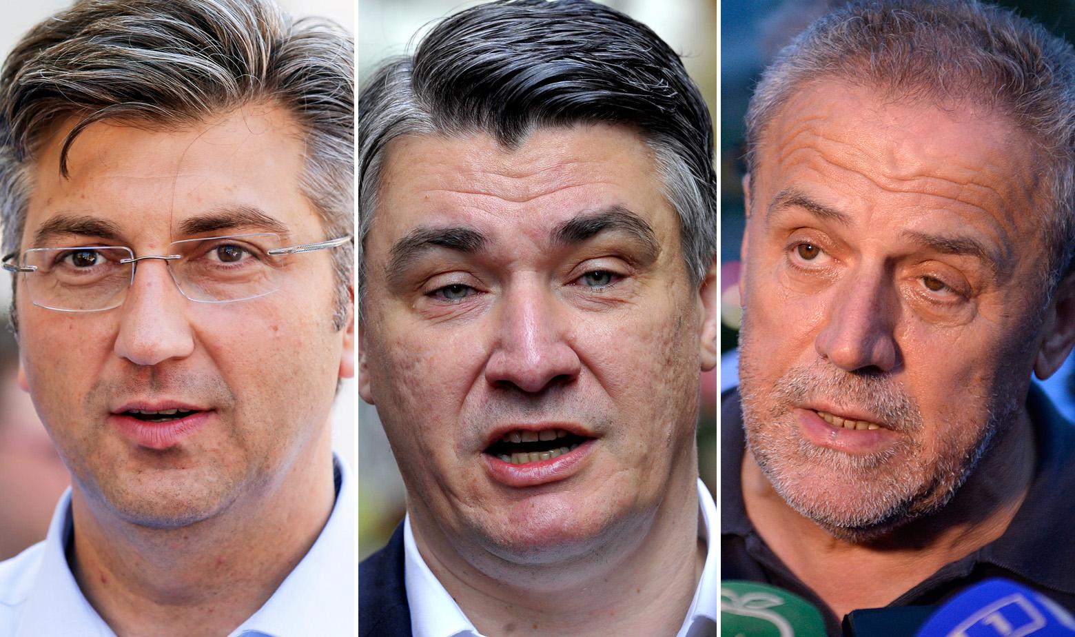 Milanović, Plenković, Bandić