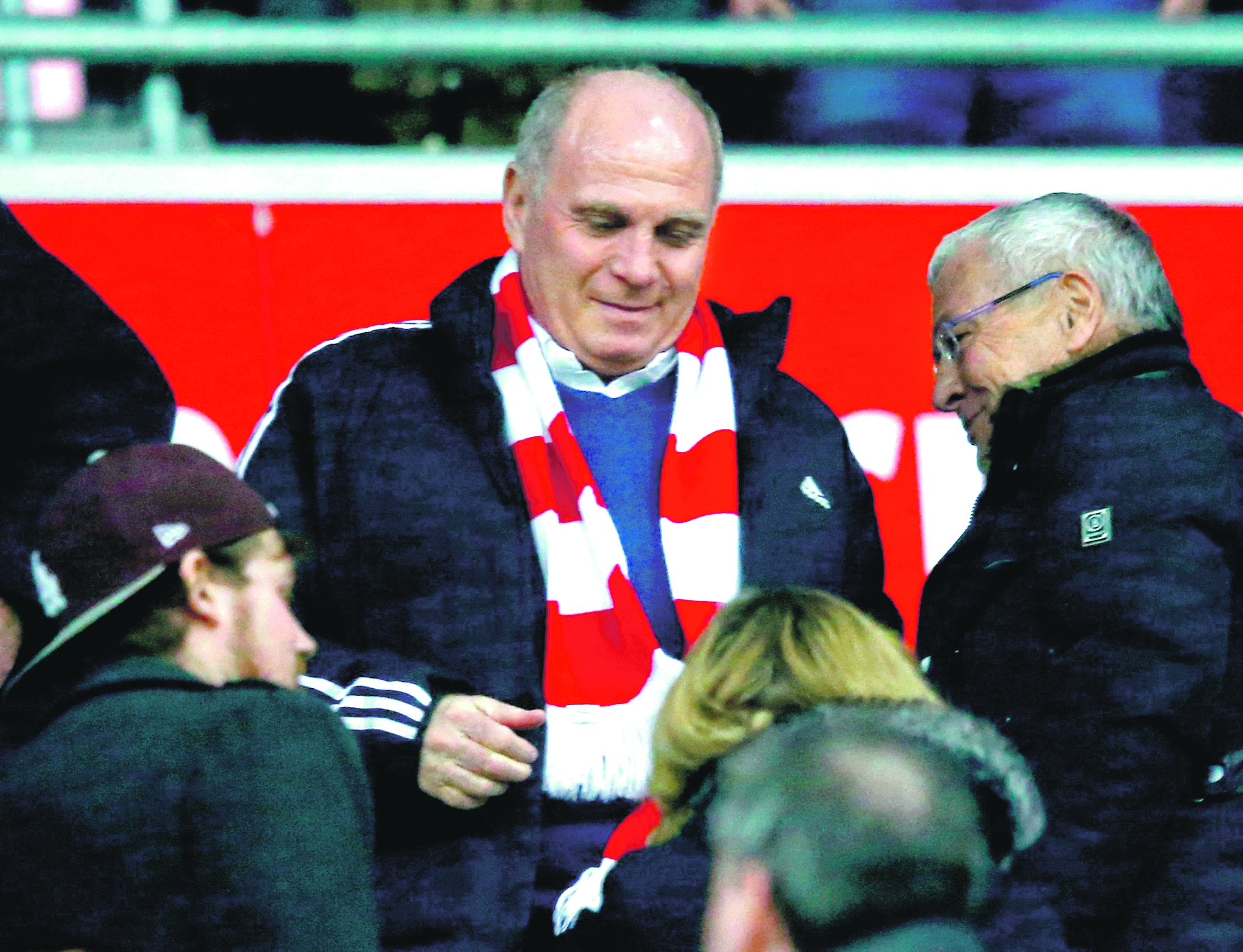 Football Soccer - Bayern Munich v Mainz 05 - German Bundesliga - Allianz-Arena, Munich, Germany - 02/03/16  Former Bayern Munich President Uli Hoeness before the match. REUTERS/Michael Dalder. DFL RULES TO LIMIT THE ONLINE USAGE DURING MATCH TIME TO 15 PICTURES PER GAME. IMAGE SEQUENCES TO SIMULATE VIDEO IS NOT ALLOWED AT ANY TIME. FOR FURTHER QUERIES PLEASE CONTACT DFL DIRECTLY AT + 49 69 650050