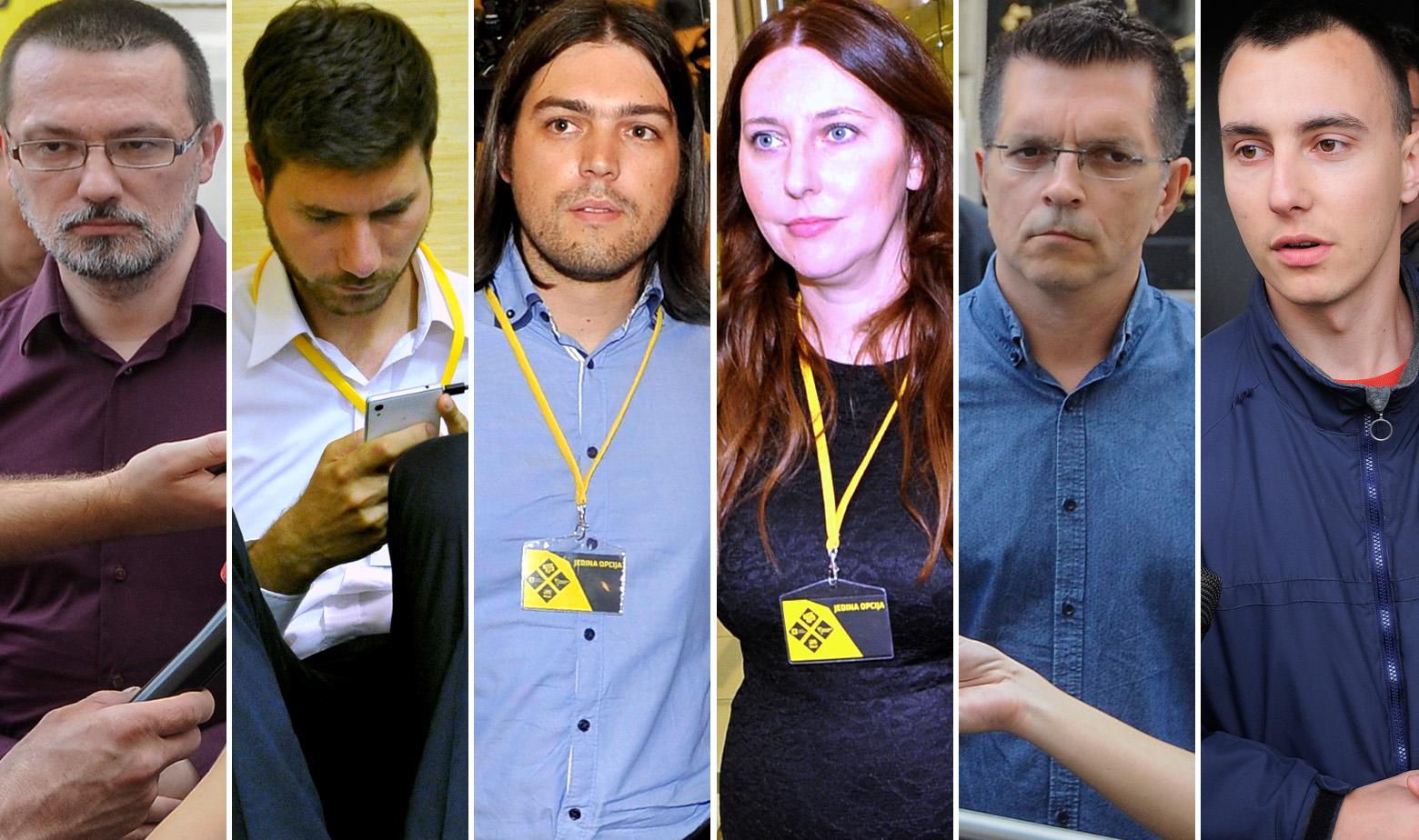 S lijeva na desno: Hrvoje Runtić, Ivan Pernar, Ivan Vilibor Sinčić, Vladimira Palfi, Branimir Bunjac, Marin Škibola