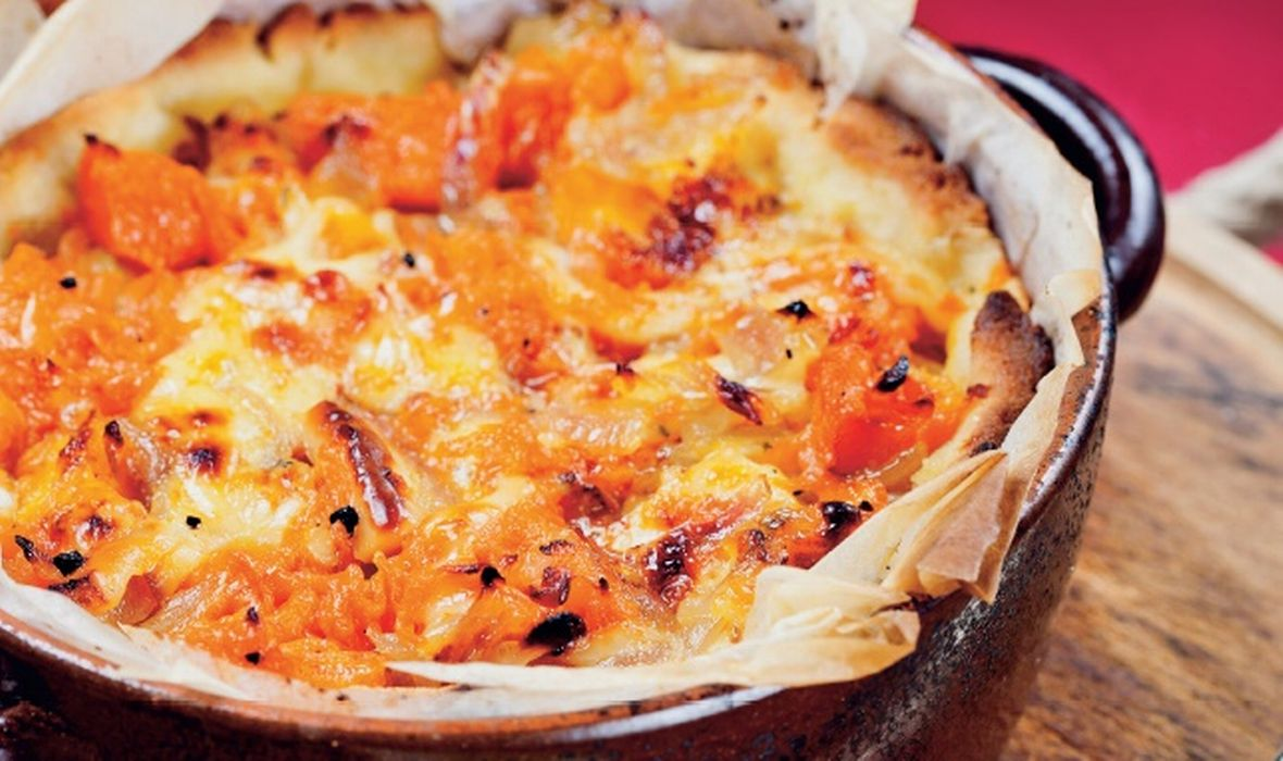 Quiche od pečenih bundeva i dimljenog sira