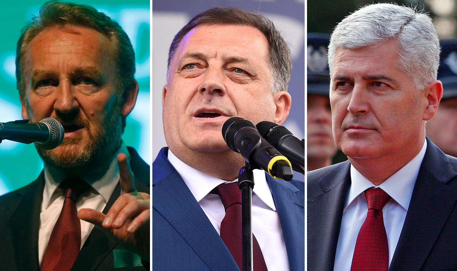 Bakir Izetbegović, Milorad Dodik i Dragan Čović