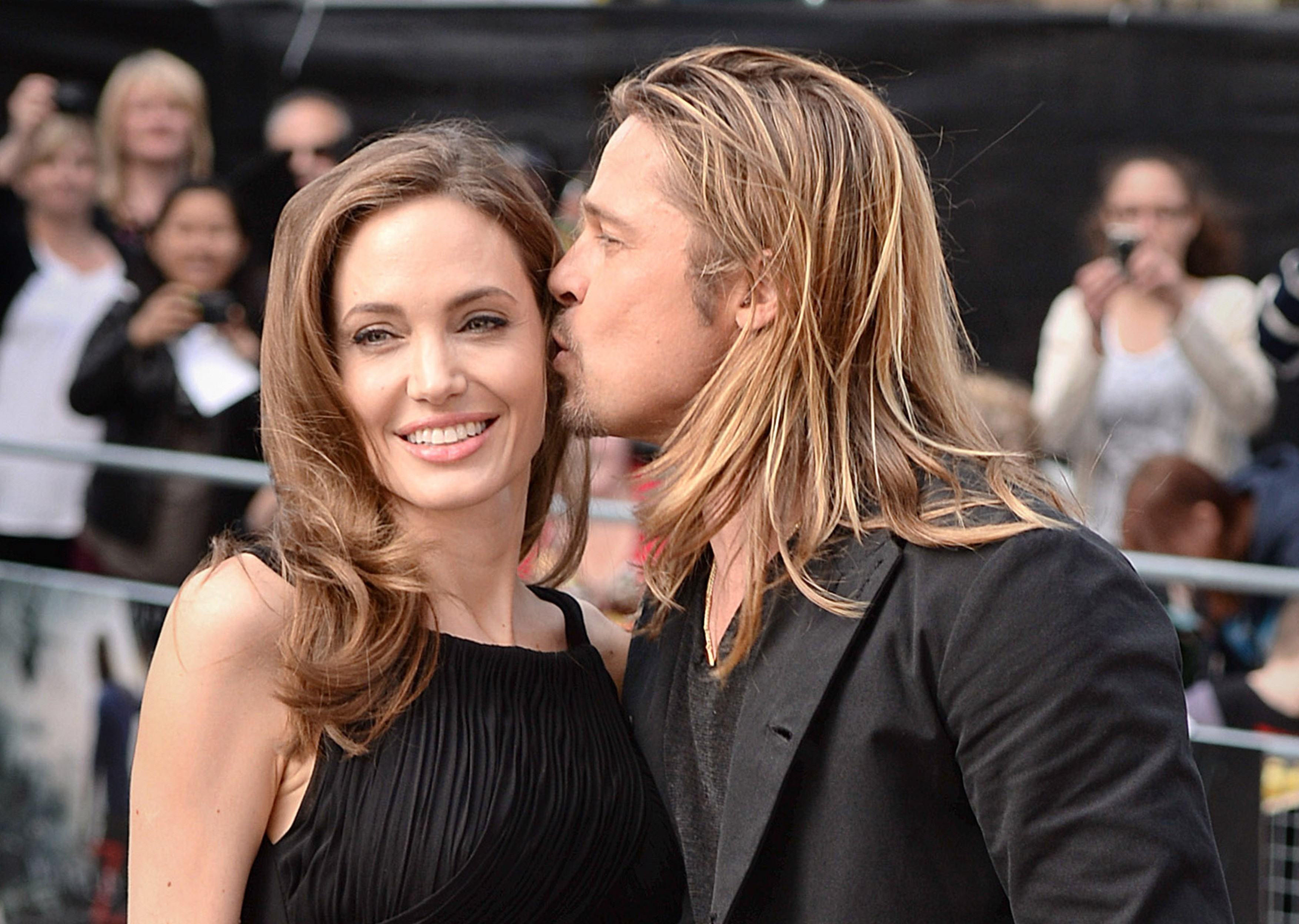 File photo dated 02/06/13 of Brad Pitt and his wife Angelina Jolie attending the world premiere of World War Z in London, as Hollywood star Jolie has filed for divorce, TMZ has reported., Image: 300491182, License: Rights-managed, Restrictions: FILE PHOTO, Model Release: no, Credit line: Profimedia, Press Association