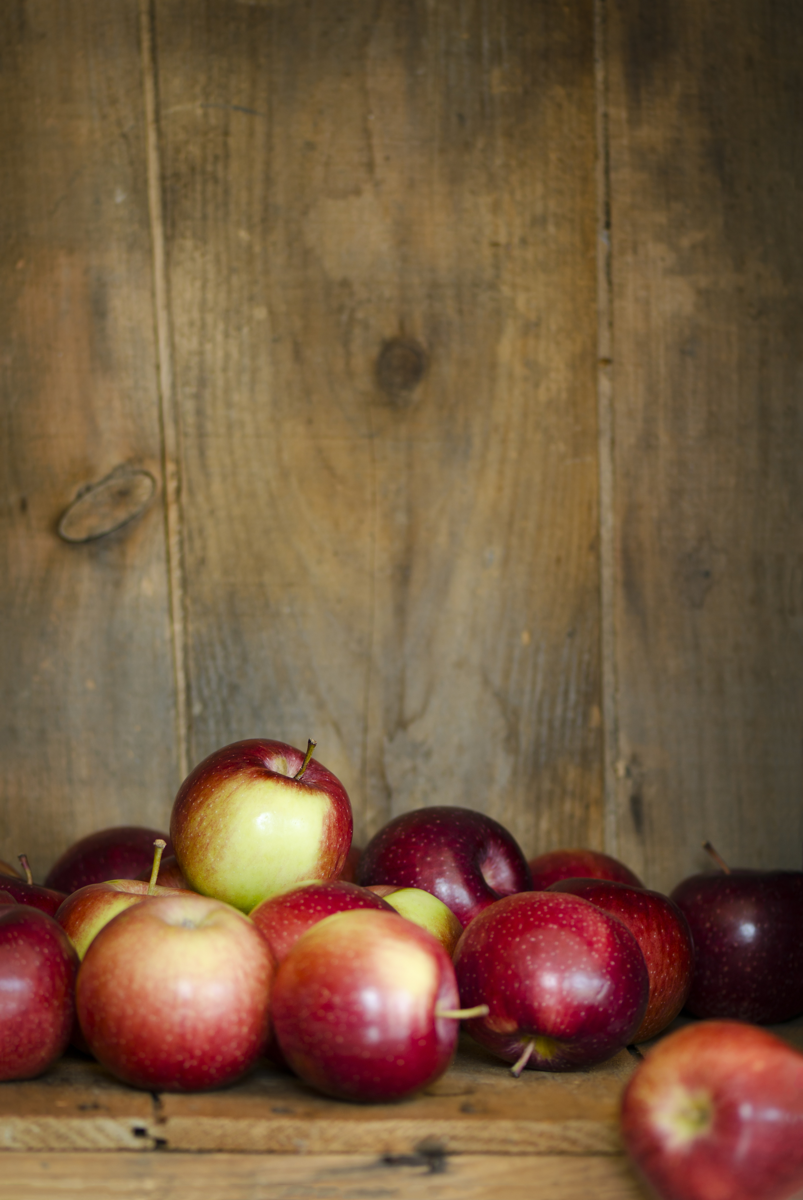 A wooden crate with some Empire apples and lots of room for copy.Similar Images: