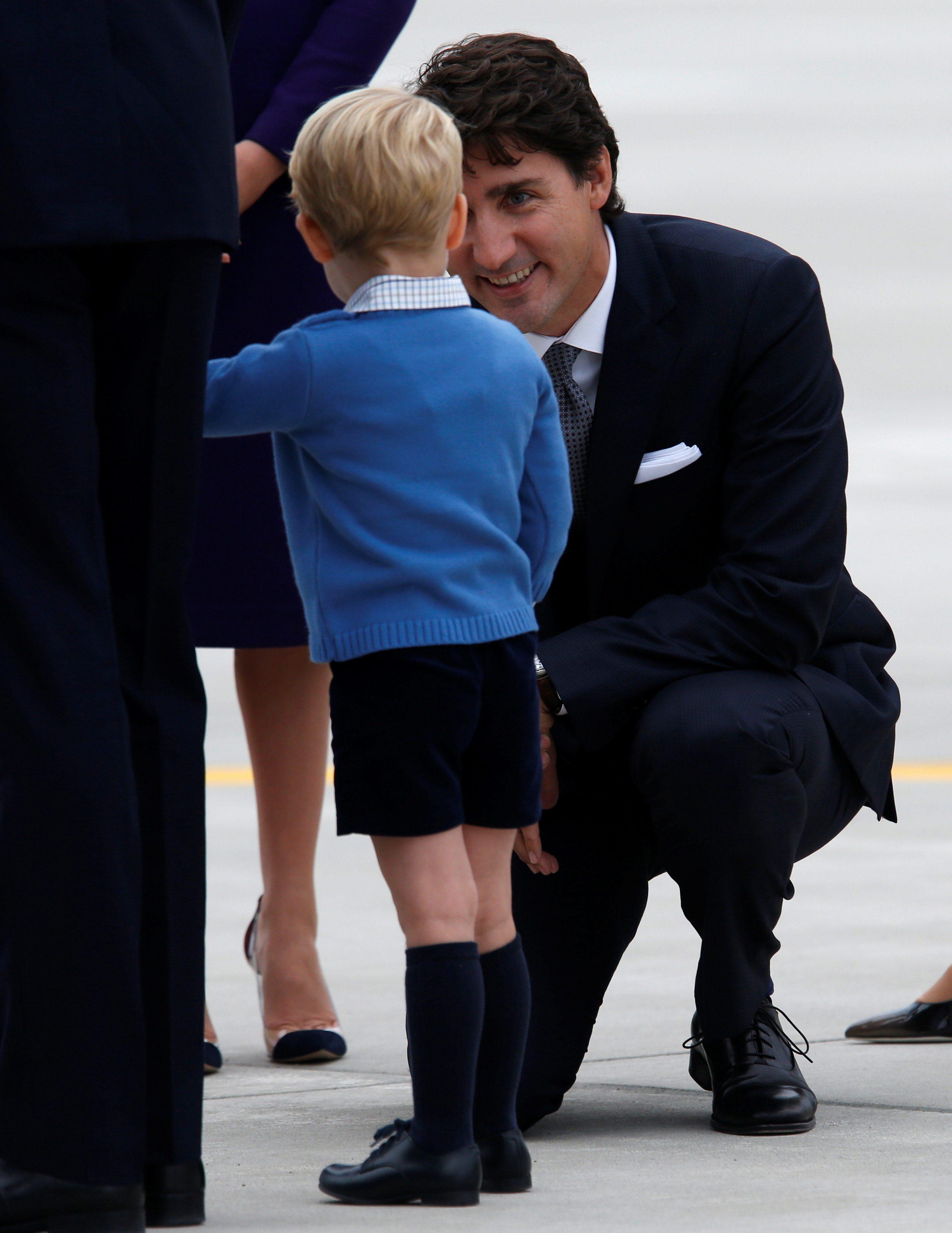 Princ George i Justin Trudeau