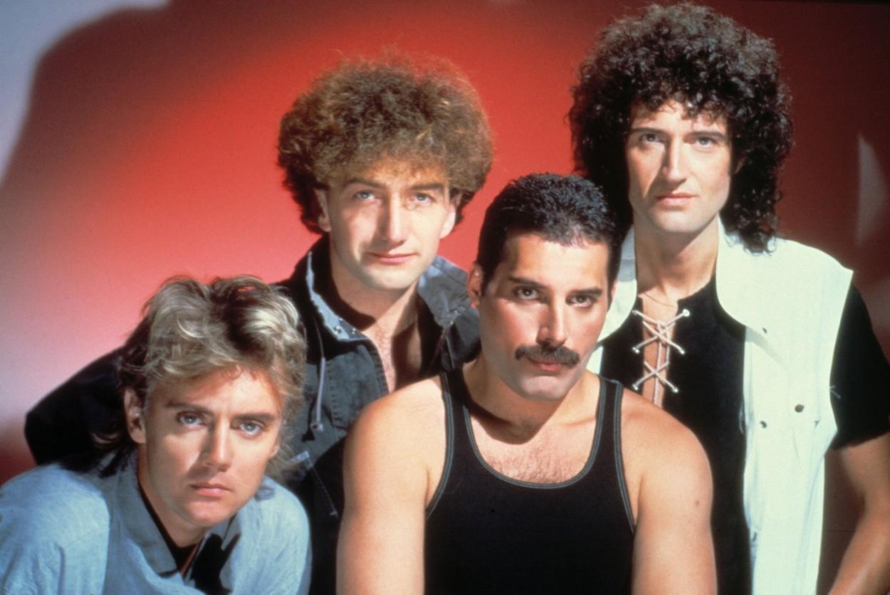 BRIAN MAY - FREDDIE MERCURY - QUEEN - JOHN DEACON - ROBERT TAYLOR. British rock band Queen (Freddie Mercury, Brian May, John Deacon and Robert Taylor)., Image: 138165916