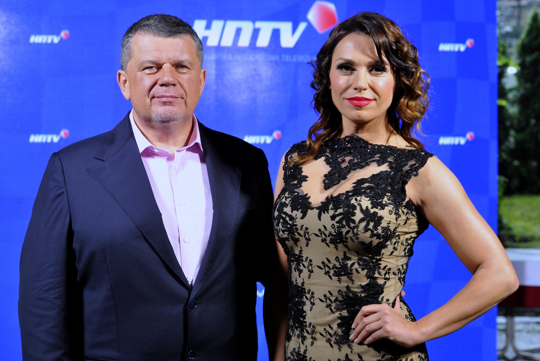 Zagreb, 060616.   Hotel AS. Predstavljanje nove televizije: Hrvatska nogometna televizija. Na fotografiji: Ivica Blazicko i Mila Horvat. Foto: Srdjan Vrancic / CROPIX