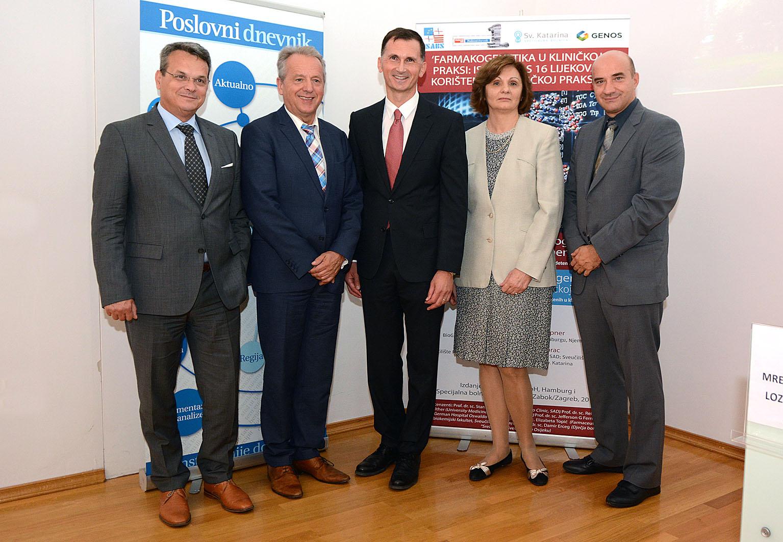 Na slici: prof.dr. Pero Lučin, Prof.dr. Wolfgang Hoppner, Prof.dr. Dragan Primorac, Prof.dr. Nada Božina, Prof.dr. Gordan Lauc