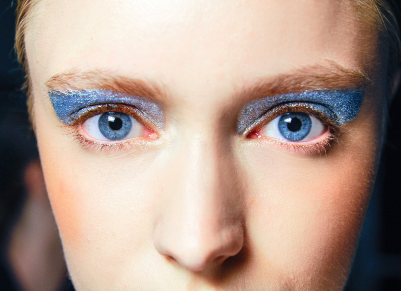 Sept. 26, 2015 - Milan, ITALY - Leitmotiv. BEAUTY EYES MOUTHS MODEL ON BACKSTAGE, MILAN FASHION WEEK 2016 WOMEN READY TO WEAR FOR SPRING SUMMER, RTW, PRET A PORTER,  FR�œHLING FRUEHLING SOMMER, MAILAND, MILANO.MILPAPSS16BACK, Image: 263614265, License: Rights-managed, Restrictions: * Austria Rights Out *, Model Release: no, Credit line: Profimedia, Zuma Press - Archives