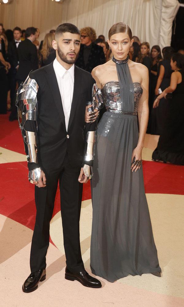 Model Gigi Hadid and singer Zayn Malik arrive at the Metropolitan Museum of Art Costume Institute Gala (Met Gala) to celebrate the opening of