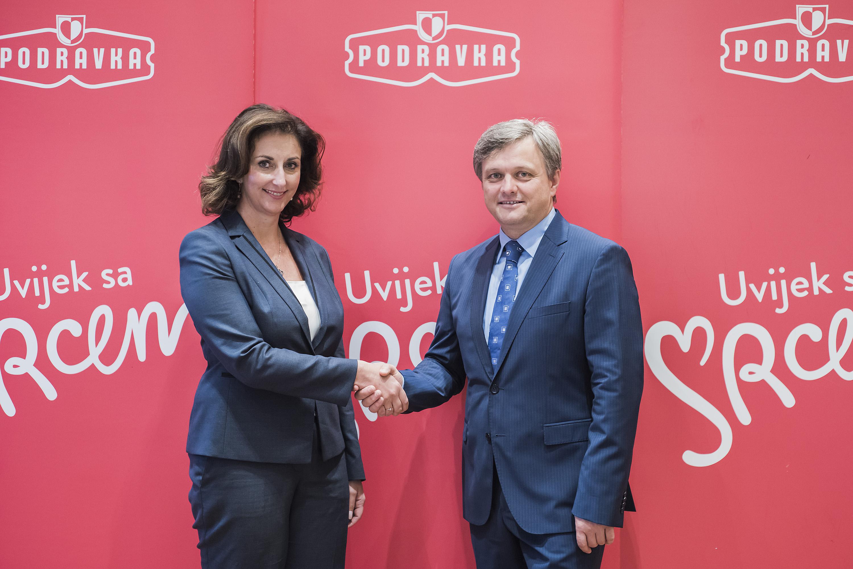 Vedrana Jelušić Kašić (EBRD) i Zvonimir Mršić (Podravka)
