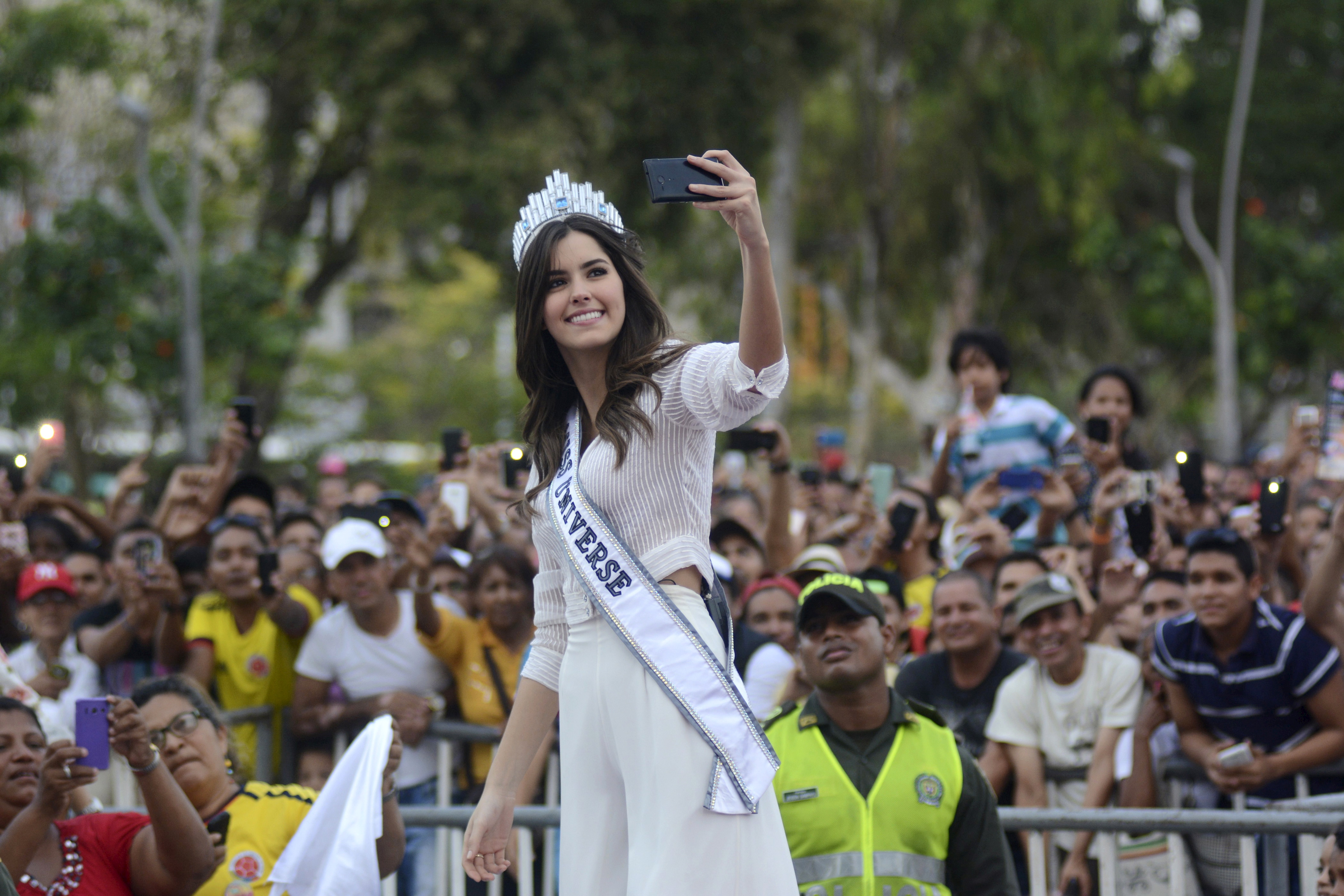 Miss Universe 2015 Paulina Vega of Colombia takes a