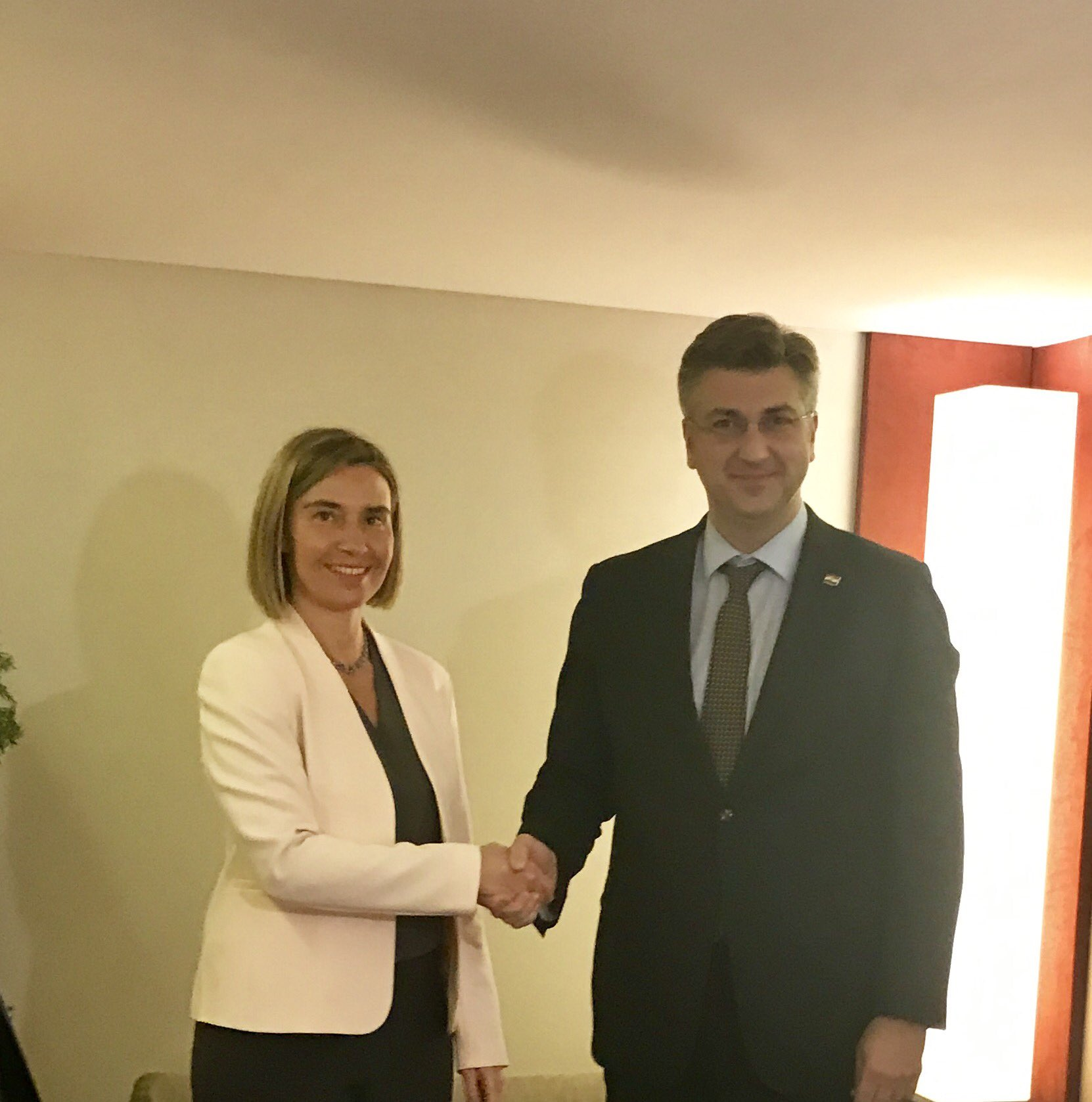 Federica Mogherini i Andrej Plenković