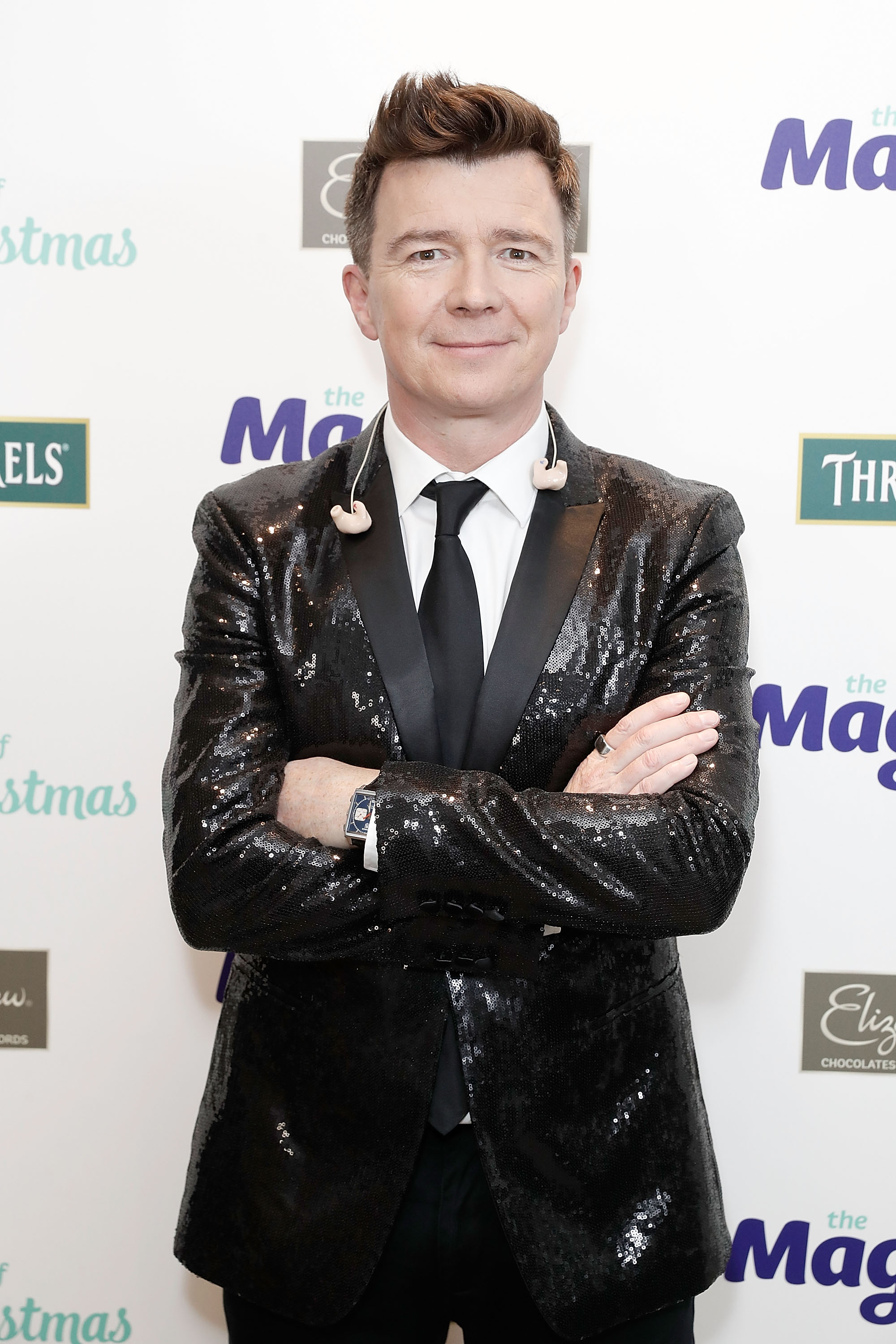 LONDON, ENGLAND - NOVEMBER 27:  Rick Astley attends The Magic of Christmas at London Palladium on November 27, 2016 in London, England.  (Photo by John Phillips/John Phillips/Getty Images)