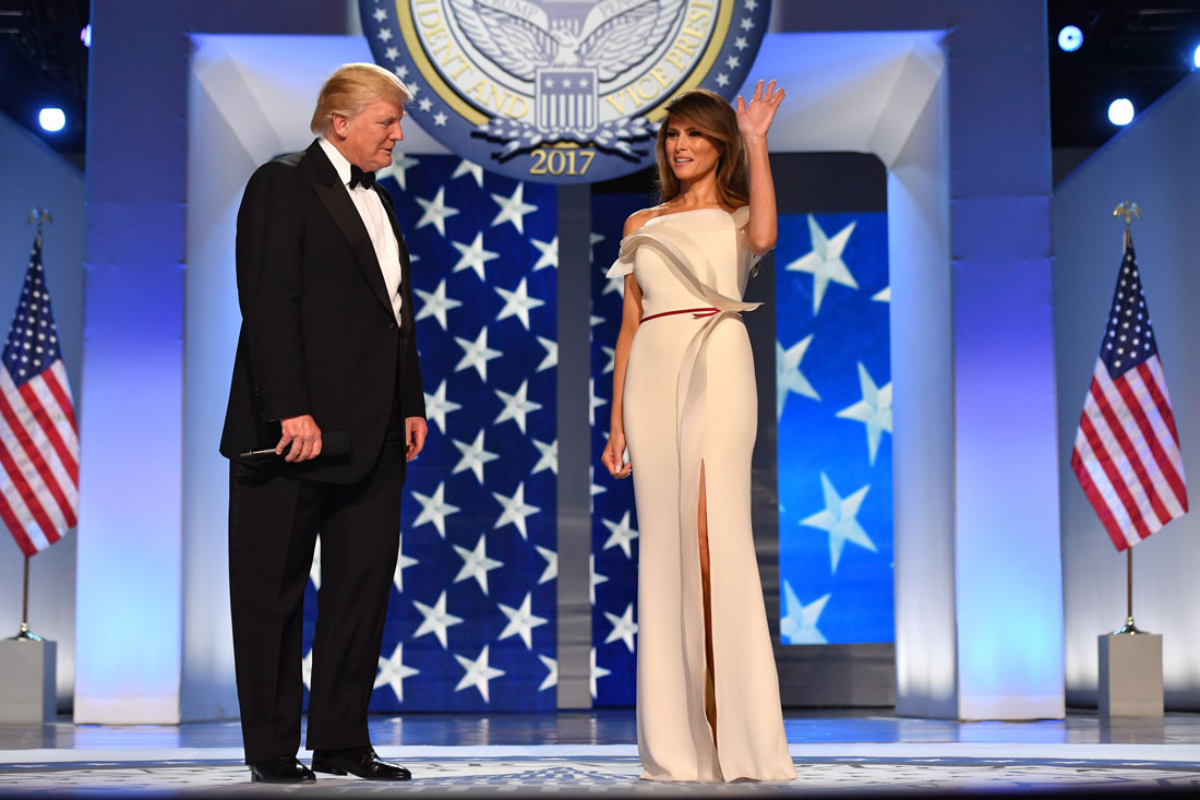 President Donald Trump and First Lady Melania Trump arrive at the Freedom Ball on January 20, 2017 in Washington, D.C. Trump will attend a series of balls to cap his Inauguration day., Image: 312135363, License: Rights-managed, Restrictions: , Model Release: no, Credit line: Profimedia, Abaca