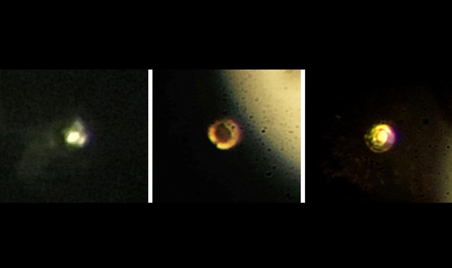 Na lijevoj slici vodik je u plinovitom stanju, na desnoj se pretvorio u metal