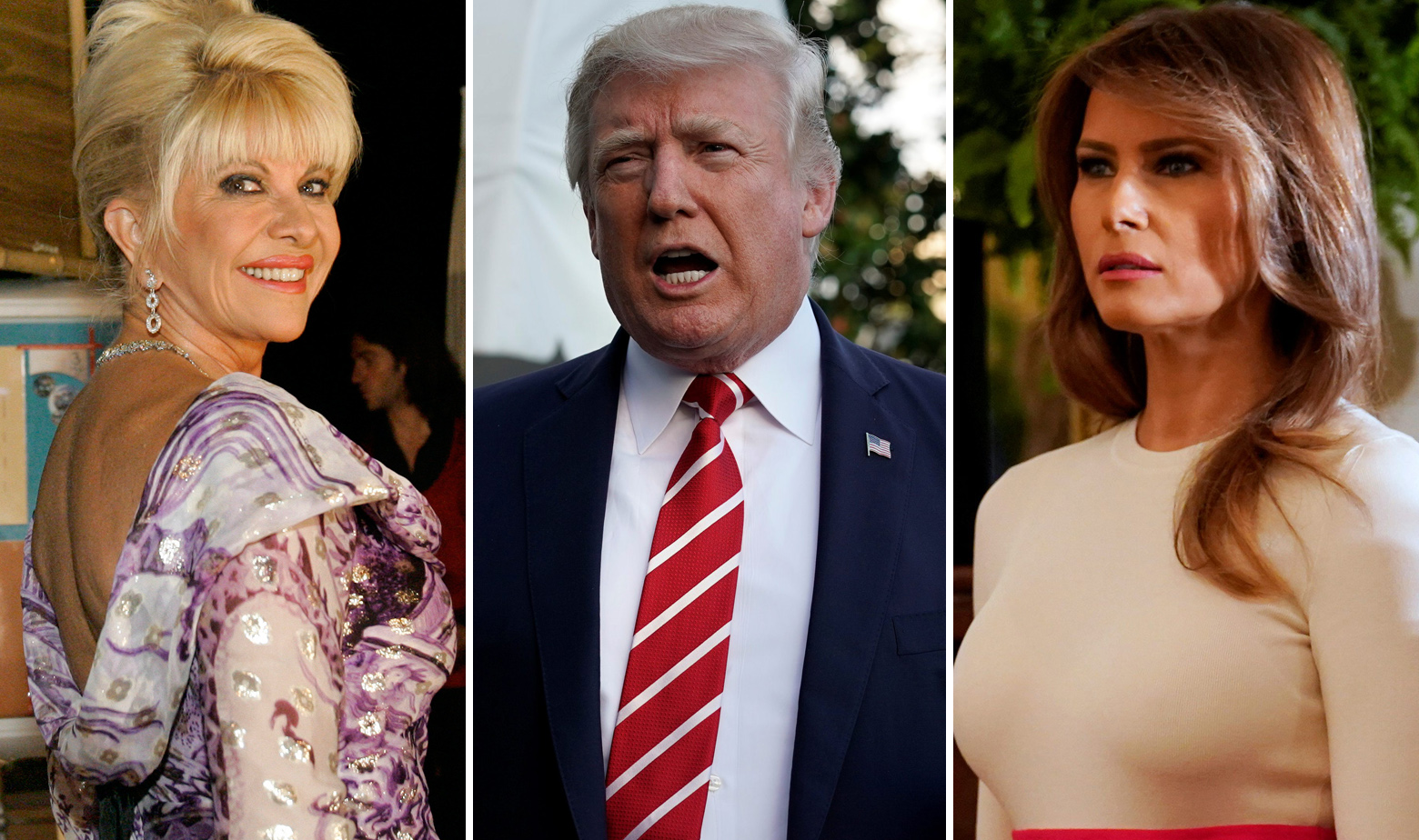 Ivana Trump, Donald Trump i Melania Trump