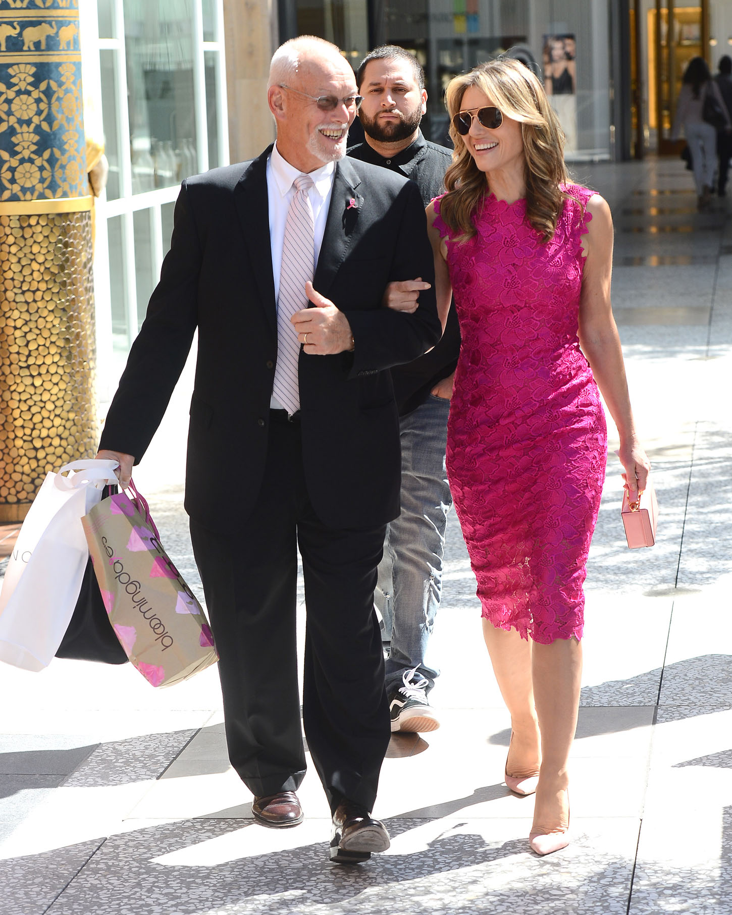 EXCLUSIVE: Elizabeth Hurley Leaves Bloomingdales Arm in Arm With a Mystery Man <P> Pictured: Elizabeth Hurley <B>Ref: SPL1595694  051017   EXCLUSIVE</B><BR/> Picture by: All Access / SAF / Splash News<BR/> </P><P> <B>Splash News and Pictures</B><BR/> Los Angeles:310-821-2666<BR/> New York:212-619-2666<BR/> London:870-934-2666<BR/> <span id=