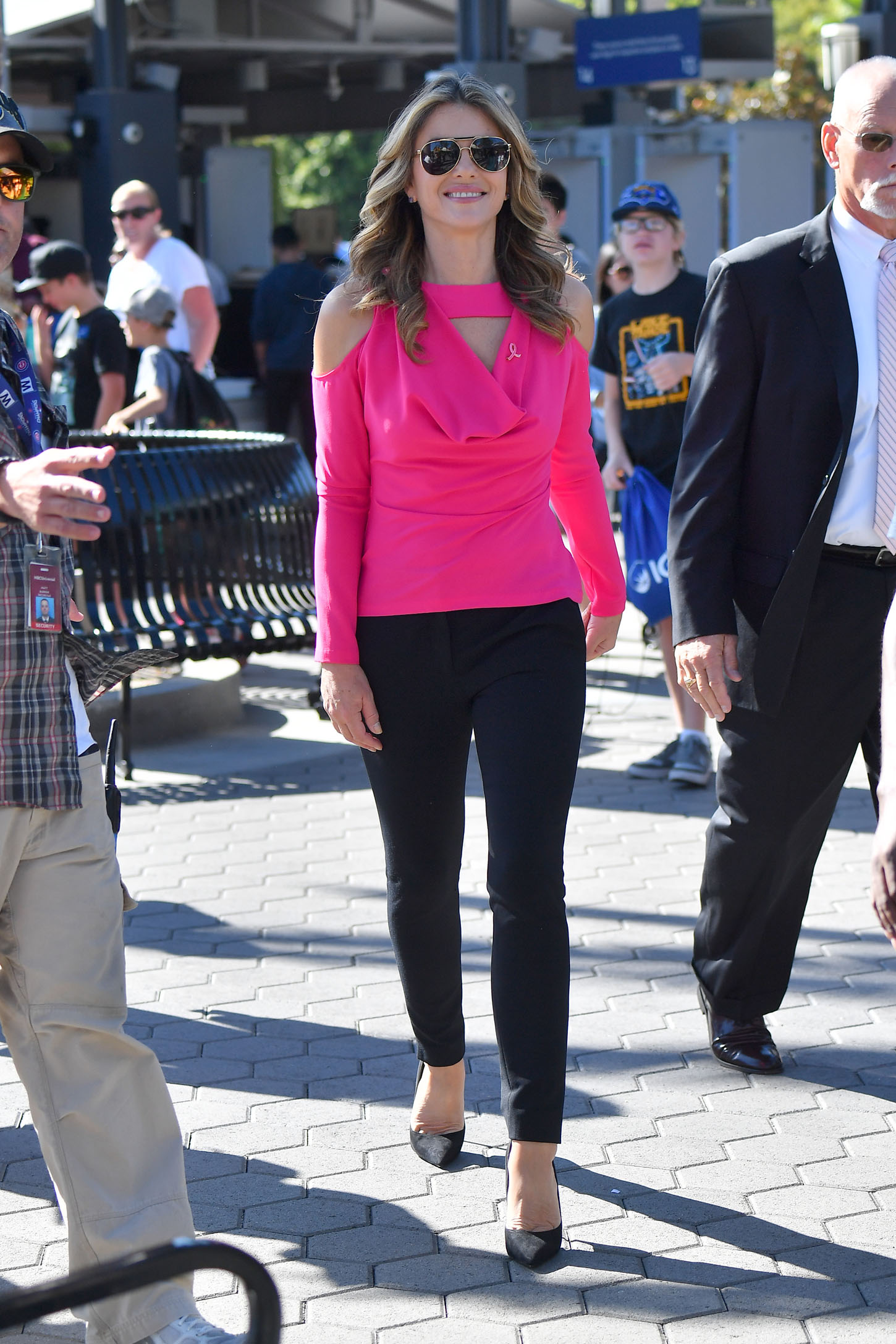 Elizabeth Hurley wears pink while out in Hollywood <P> Pictured: Elizabeth Hurley <B>Ref: SPL1596044  051017  </B><BR/> Picture by: Fern / Splash News<BR/> </P><P> <B>Splash News and Pictures</B><BR/> Los Angeles:310-821-2666<BR/> New York:212-619-2666<BR/> London:870-934-2666<BR/> <span id=