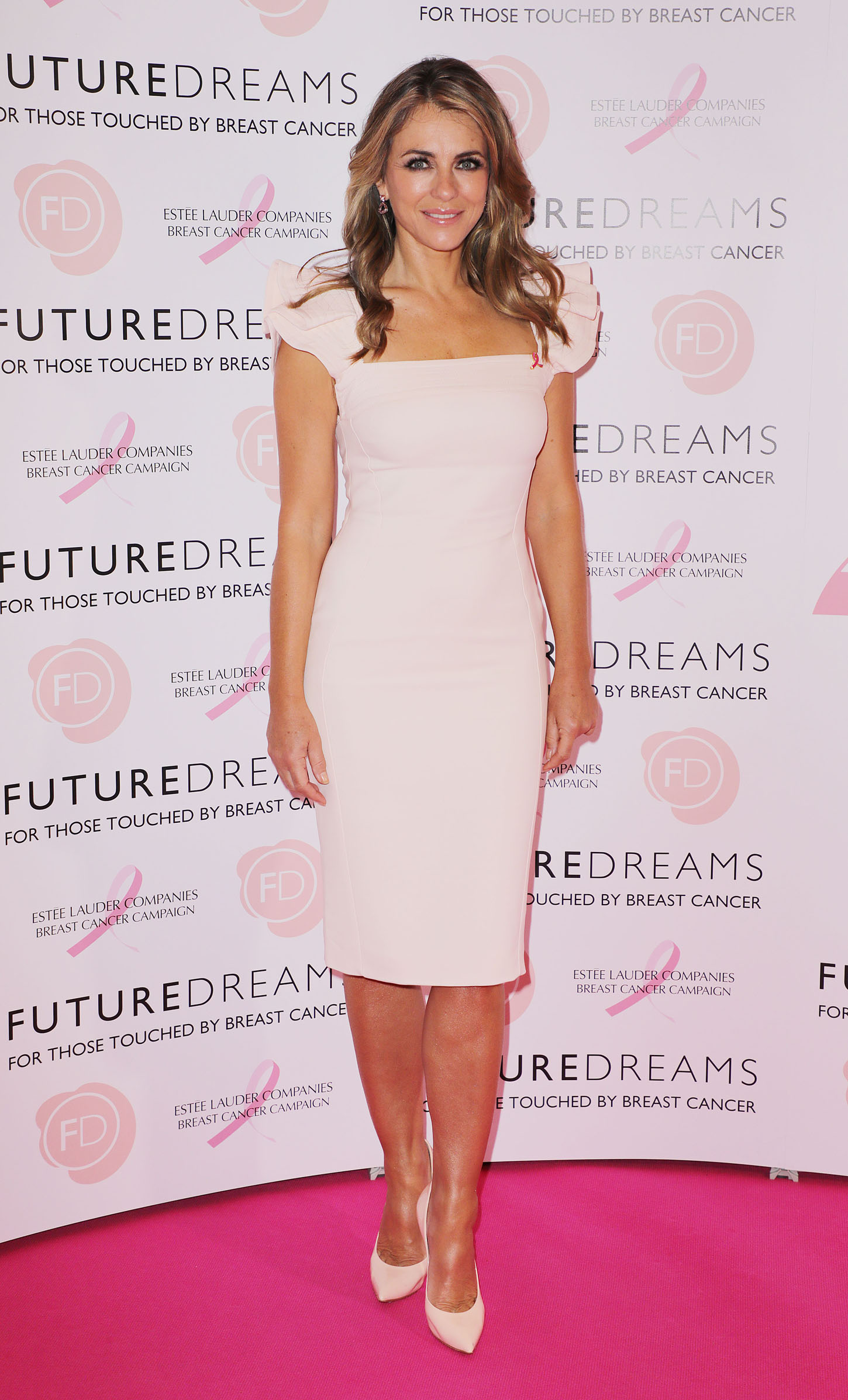 Future Dreams Fundraising lunch at the Savoy, London, UK <P> Pictured: Elizabeth Hurley <B>Ref: SPL1598180  091017  </B><BR/> Picture by: Elliot / Splash News<BR/> </P><P> <B>Splash News and Pictures</B><BR/> Los Angeles:310-821-2666<BR/> New York:212-619-2666<BR/> London:870-934-2666<BR/> <span id=