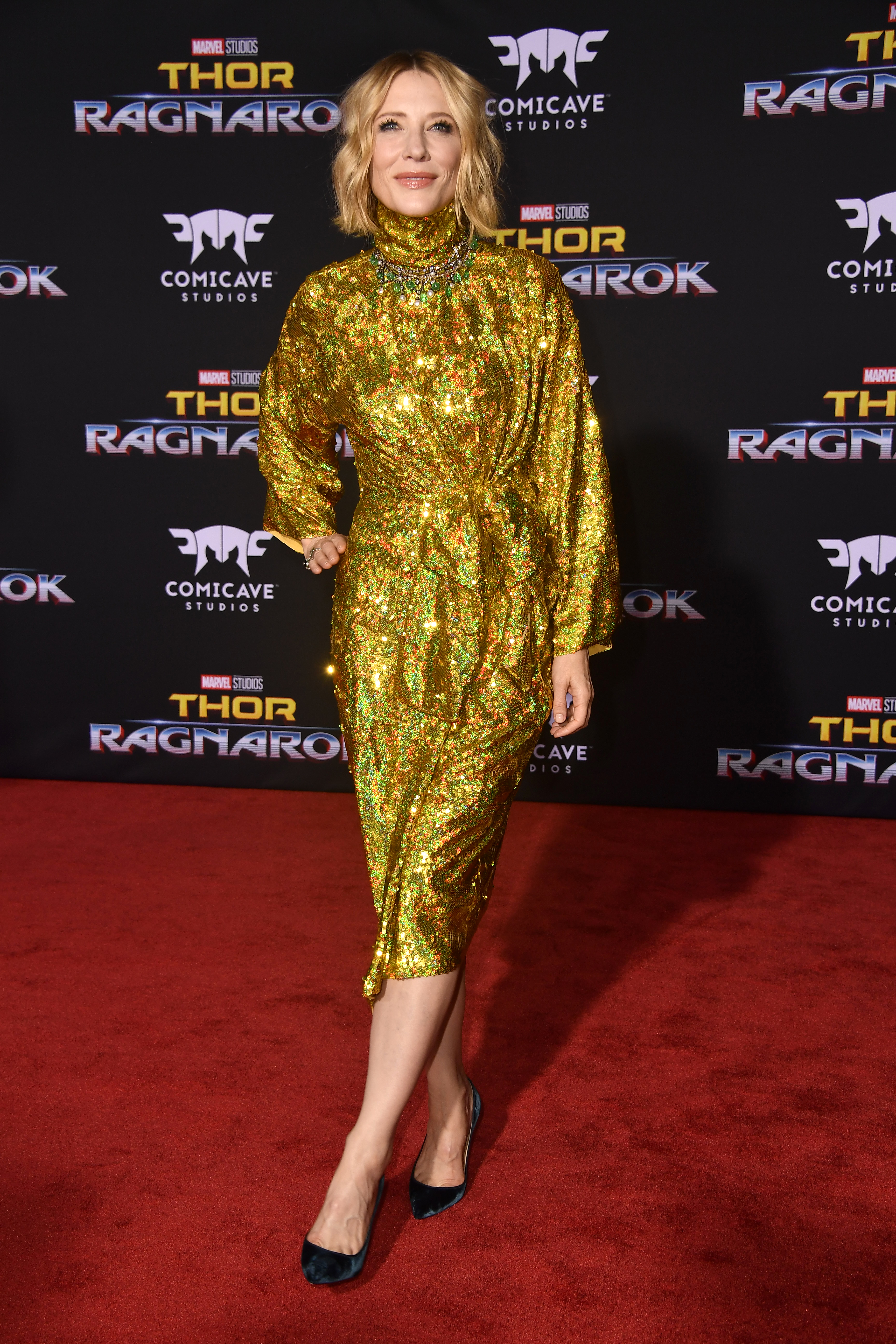 LOS ANGELES, CA - OCTOBER 10:  Actress Cate Blanchett arrives at the Premiere Of Disney And Marvel's