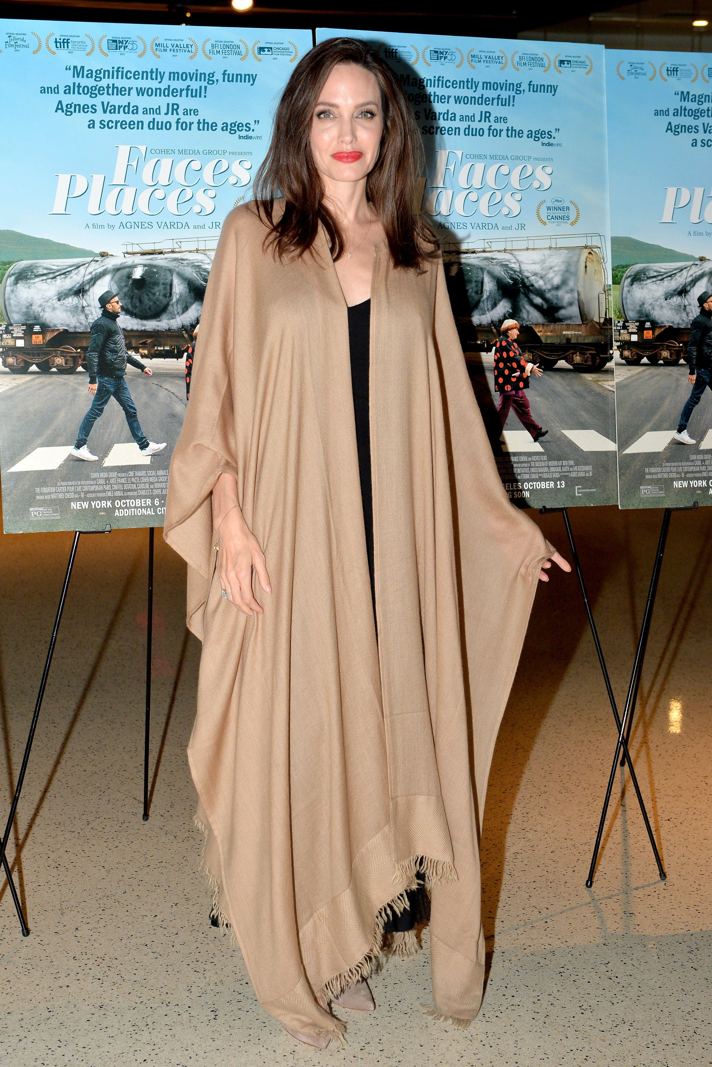 Angelina Jolie attends the Los Angeles Premiere of Faces Places at the Silver Screen Theatre in the Pacific Design Center on October 11, 2017 in West Hollywood, California., Image: 352567365, License: Rights-managed, Restrictions: , Model Release: no, Credit line: Profimedia, Abaca
