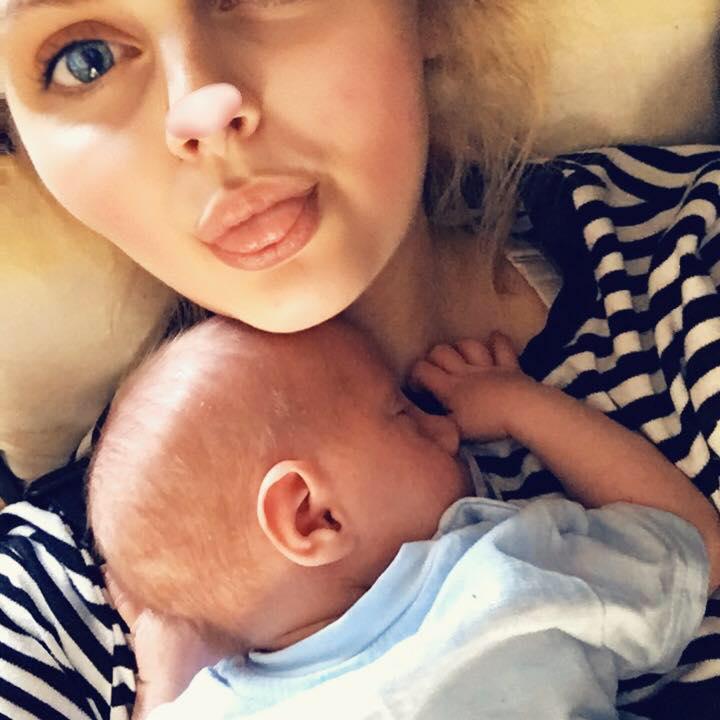 Constance Whitton s djetetom Sethom