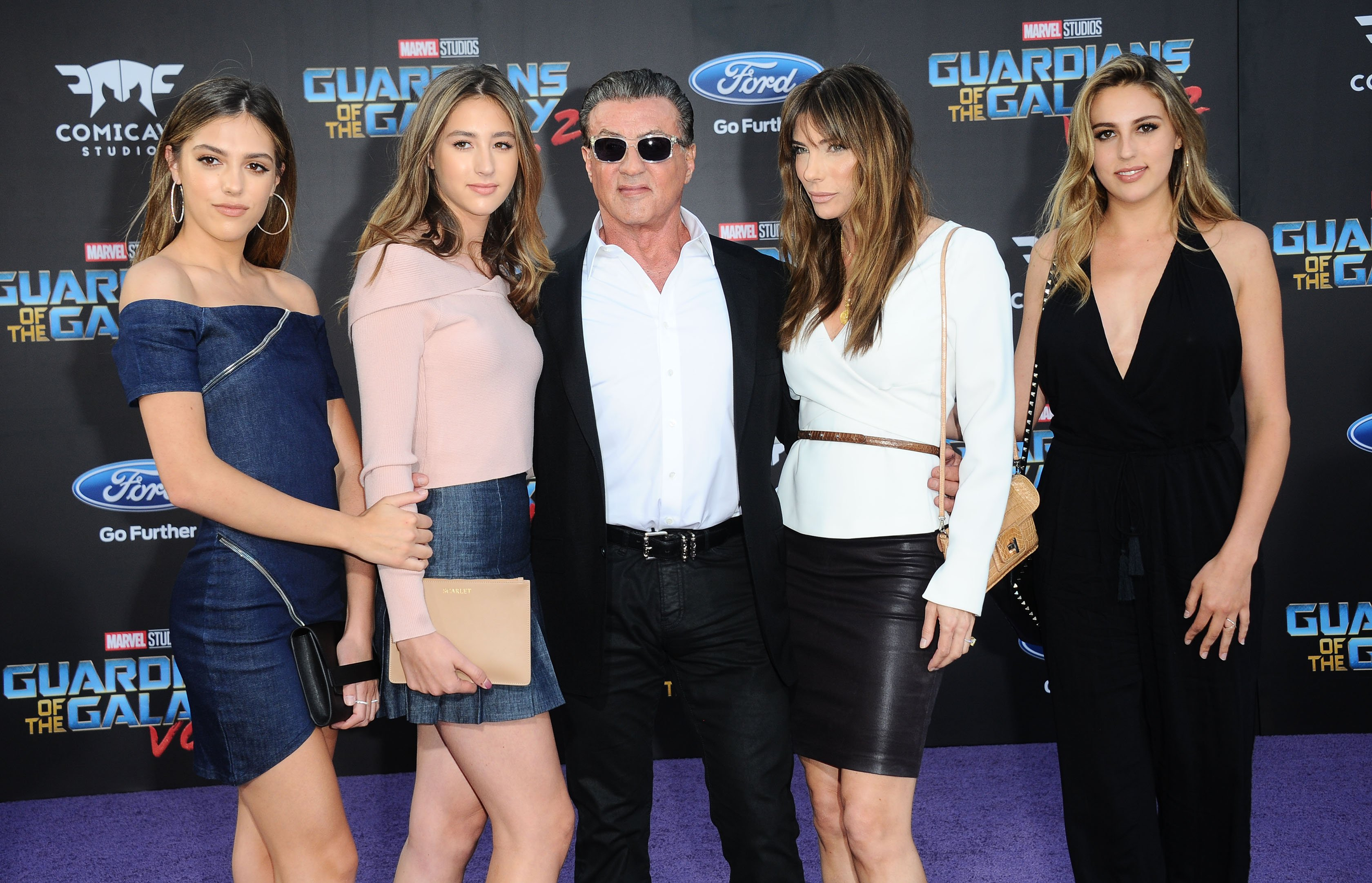 -Hollywood, CA - 04/19/2017 Guardians Of The Galaxy Vol. 2 Los Angeles Premiere -PICTURED: Sylvester Stallone, Family -, Image: 329566529, License: Rights-managed, Restrictions: , Model Release: no, Credit line: Profimedia, INSTAR Images