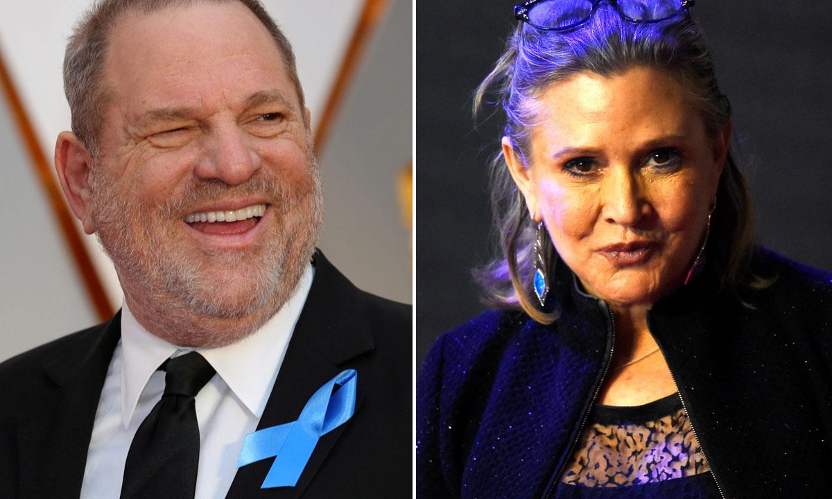 Harvey Weinstein i Carrie Fisher