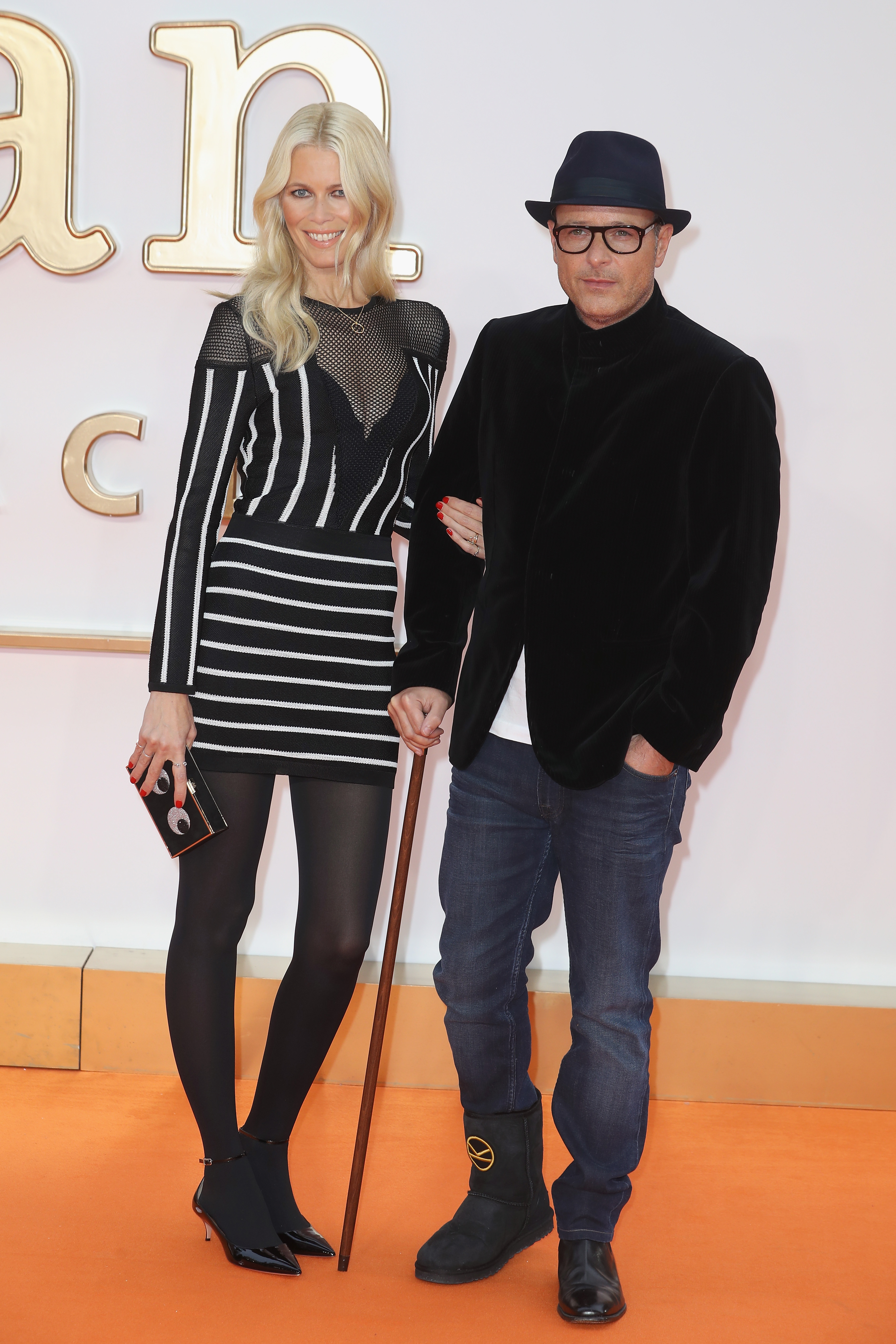 LONDON, ENGLAND - SEPTEMBER 18:  Director and writer Matthew Vaughn and Claudia Schiffer attend the 'Kingsman: The Golden Circle' World Premiere held at Odeon Leicester Square on September 18, 2017 in London, England.  (Photo by Chris Jackson/Getty Images)