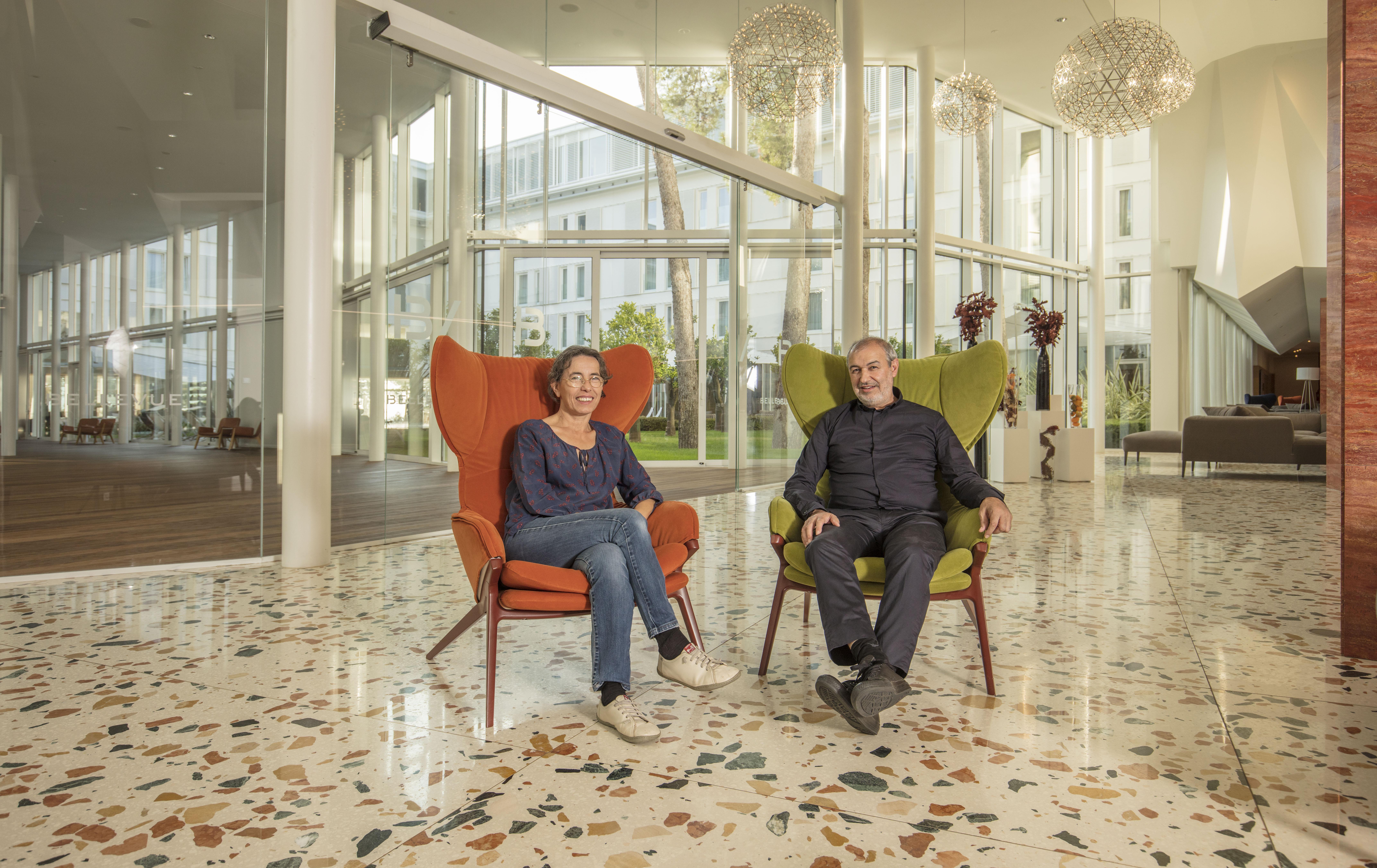 Carme Pigem i Ramon Vilalta iz RCR Arquitectes u Lošinju su odsjeli u hotelu Bellevue koji je preuređen prema projektu njihova kolege i prijatelja Andrije Rusana