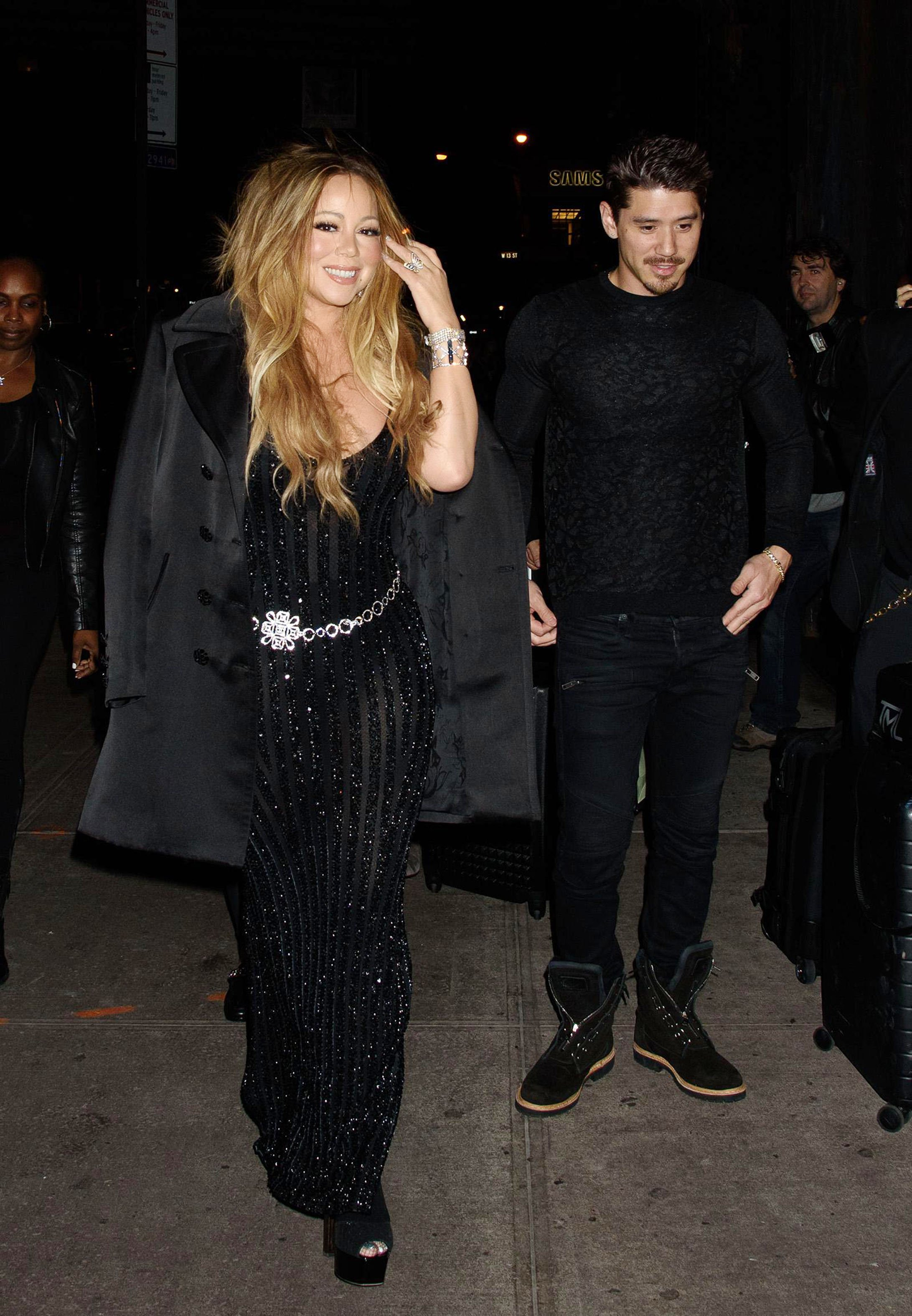 , New York, NY - 10/23/17 - V Magazine Hosts Dinner for Karl Lagerfeld  -PICTURED: Mariah Carey, Bryan Tanaka -, Image: 353729436, License: Rights-managed, Restrictions: , Model Release: no, Credit line: Profimedia, INSTAR Images