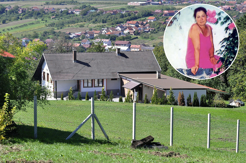 kuća u kojoj je živjela ubijena Blaška Skender (u krugu)