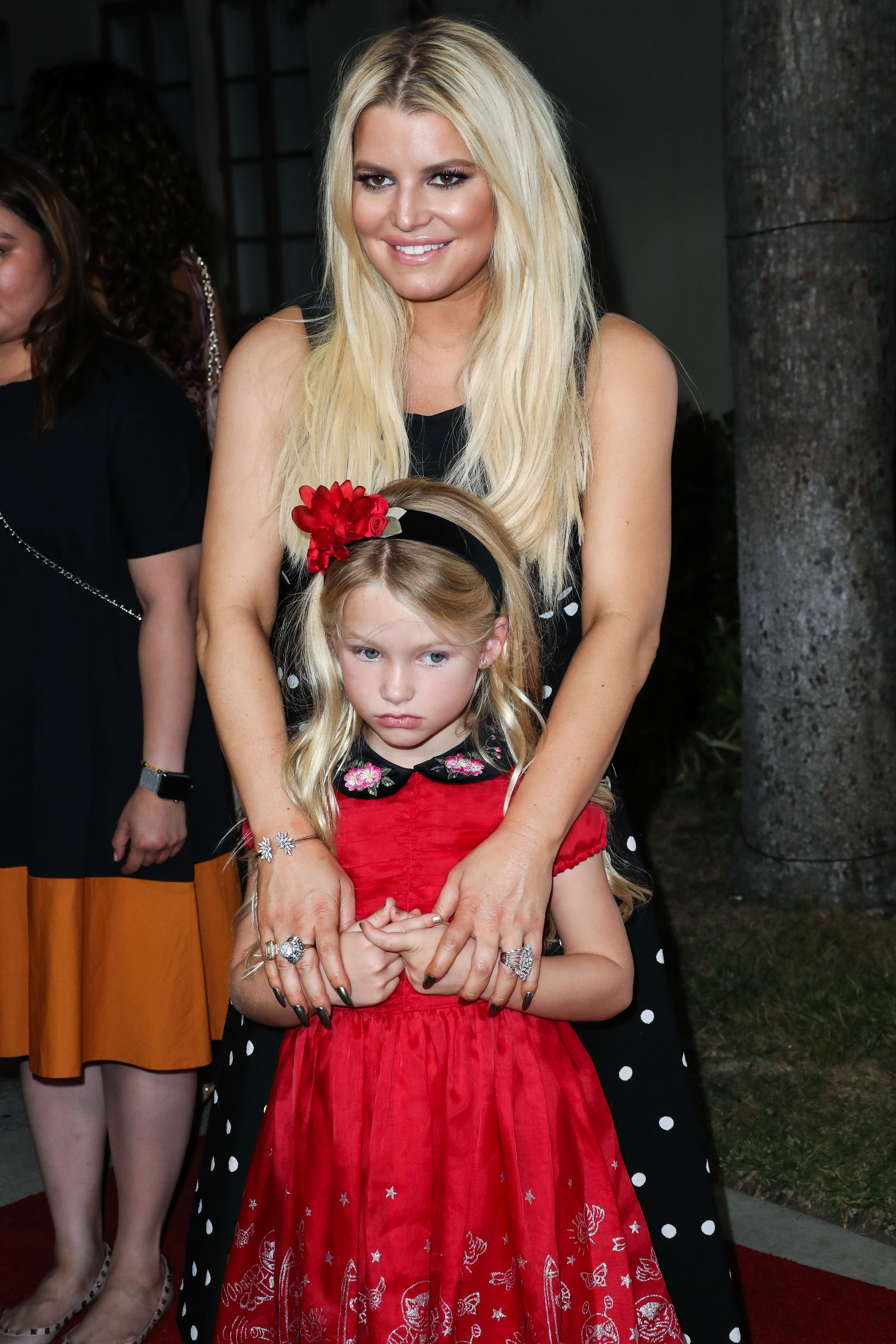 HOLLYWOOD, LOS ANGELES, CA, USA - OCTOBER 24: Singer/actress Jessica Simpson and daughter Maxwell Johnson arrive at the 2017 Princess Grace Awards Gala Kickoff Event held at Paramount Studios on October 24, 2017 in Hollywood, Los Angeles, California, United States. (Photo by Xavier Collin/Image Press Agency/Splash News) <P> Pictured: Jessica Simpson, Maxwell Johnson <B>Ref: SPL1609082  241017  </B><BR/> Picture by: Xavier Collin/IPA/Splash News<BR/> </P><P> <B>Splash News and Pictures</B><BR/> Los Angeles:	310-821-2666<BR/> New York:	212-619-2666<BR/> London:	870-934-2666<BR/> <span id=