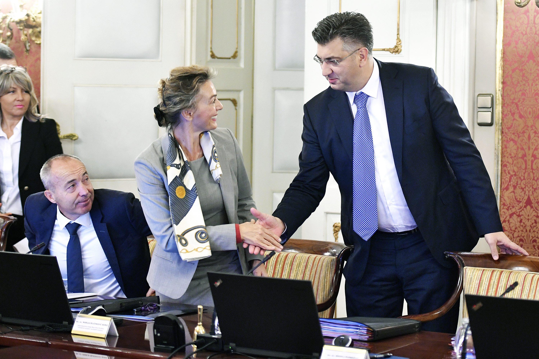 Damir Krstičević, Marija Pejčinović Burić i Andrej Plenković