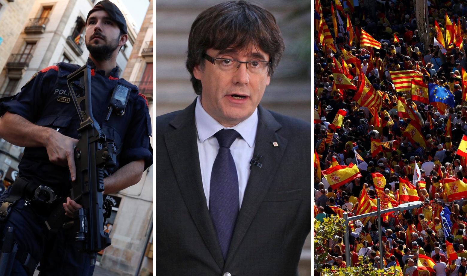 Katalonski policajac, Carles Puigdemont i prosvjedi u Barceloni protiv neovisnosti Katalonije