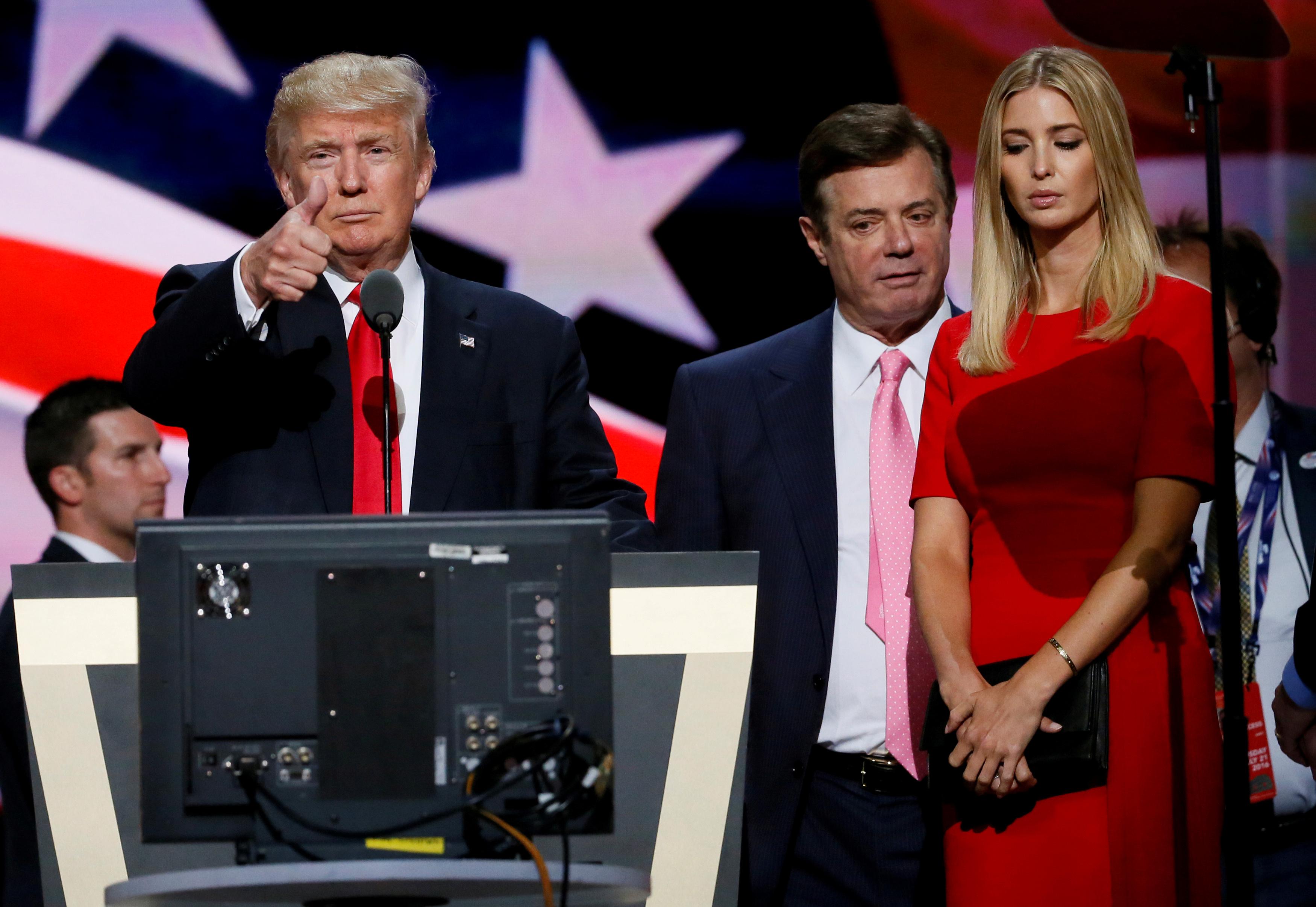 Donald Trump, Paul Manafort, Ivanka Trump