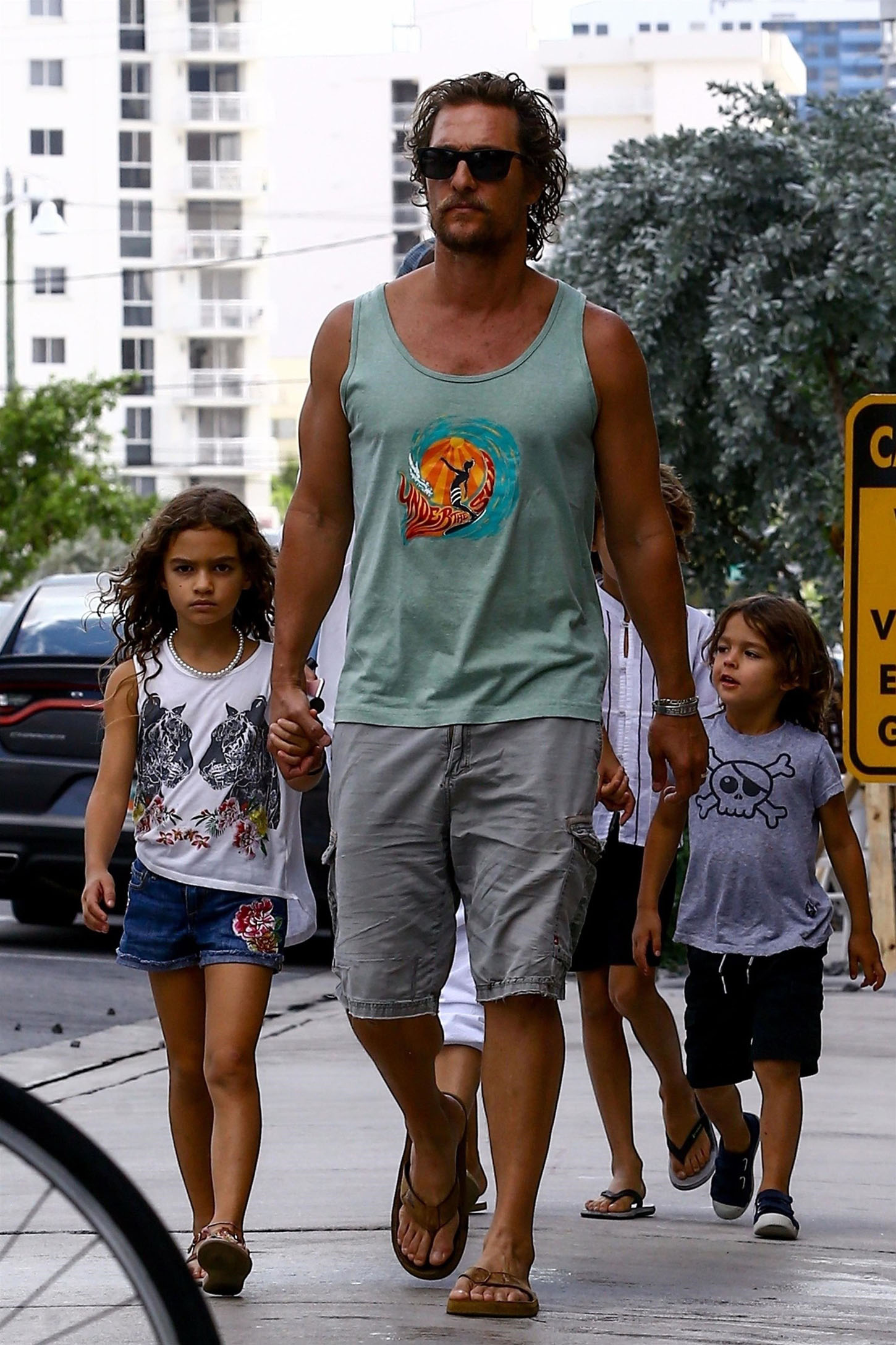 Miami, FL  - Actor Matthew McConaughey and his wife Camila Alves are spotted out and about during their family vacation in Miami with their children Livingston, Levi, and Vida. Matthew is back in the states after attending Guy Oseary's star-studded wedding Rio de Janeiro.  Pictured: Matthew McConaughey, Camila Alves, Levi Alves McConaughey, Vida Alves McConaughey, Livingston Alves     *UK Clients - Pictures Containing Children Please Pixelate Face Prior To Publication*, Image: 354053660, License: Rights-managed, Restrictions: , Model Release: no, Credit line: Profimedia, AKM-GSI