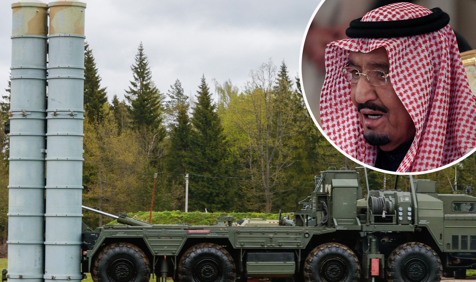 Raketni sustav S-400 i saudijski kralj Salman u krugu