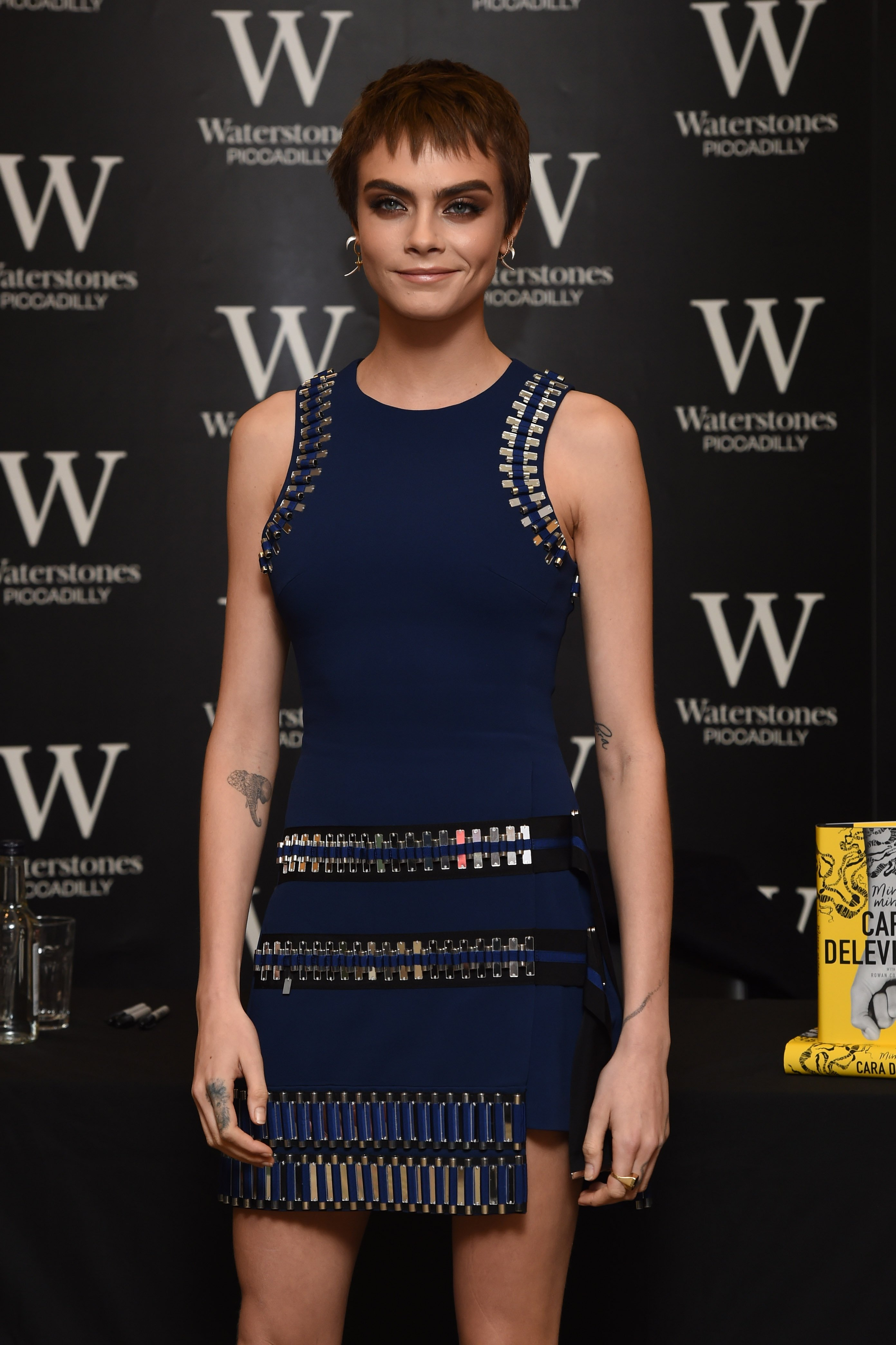 4 October 2017.  Cara Delevingne - book signing held at Waterstones Piccadilly, 203-206 Piccadilly, London.  Here:  Cara Delevingne, Image: 351838674, License: Rights-managed, Restrictions: , Model Release: no, Credit line: Profimedia, Goff Photos