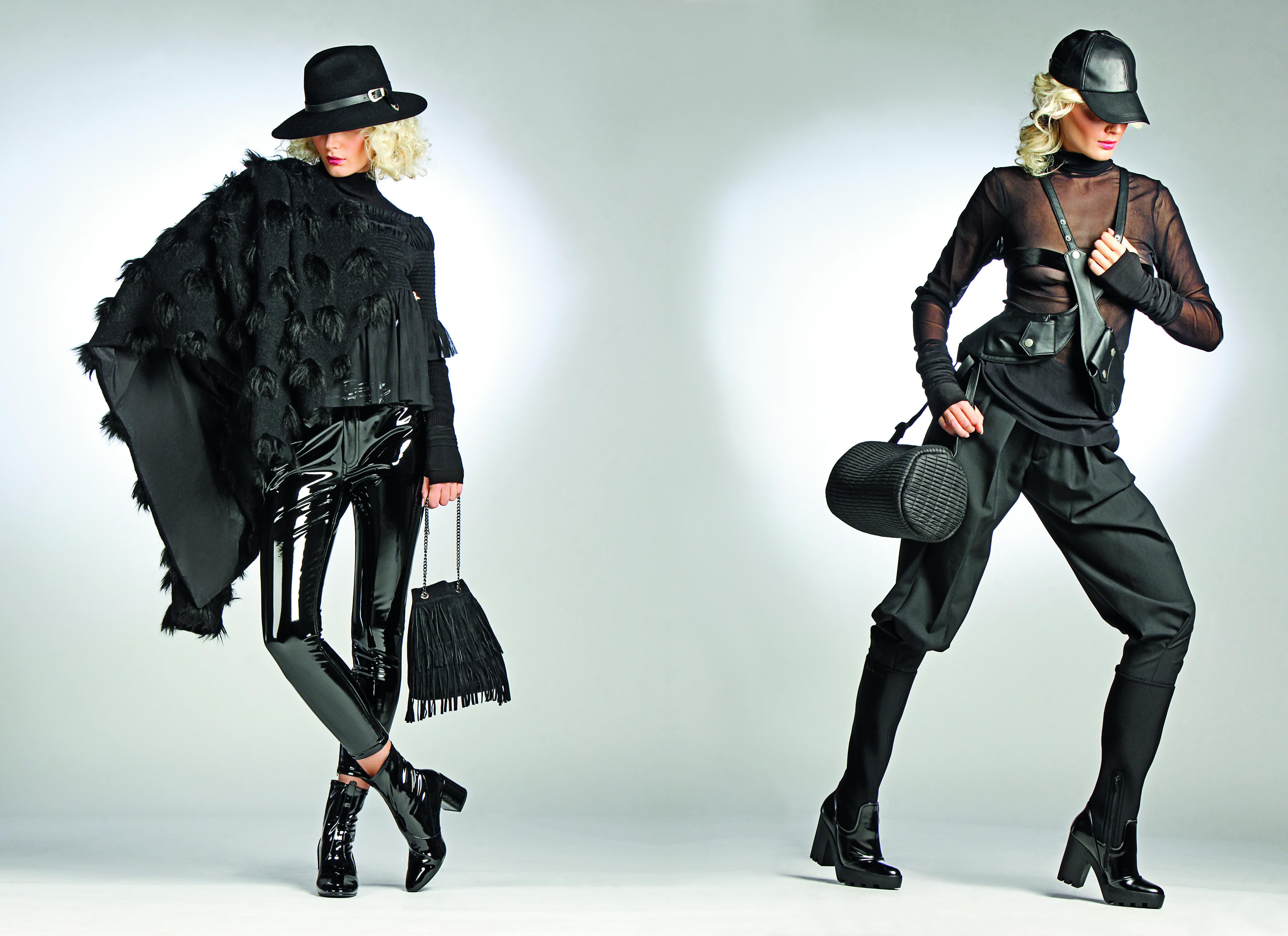 Vunena jakna 1330 kn, XD Xenia Design; vunena dolčevita 2012 kn, Patrizia Pepe; hlače od poliestera 349,90 kn, Mango; gležnjače od eko lak kože 349,90 kn, Mango; kožnata torba 229 kn, Caleidos