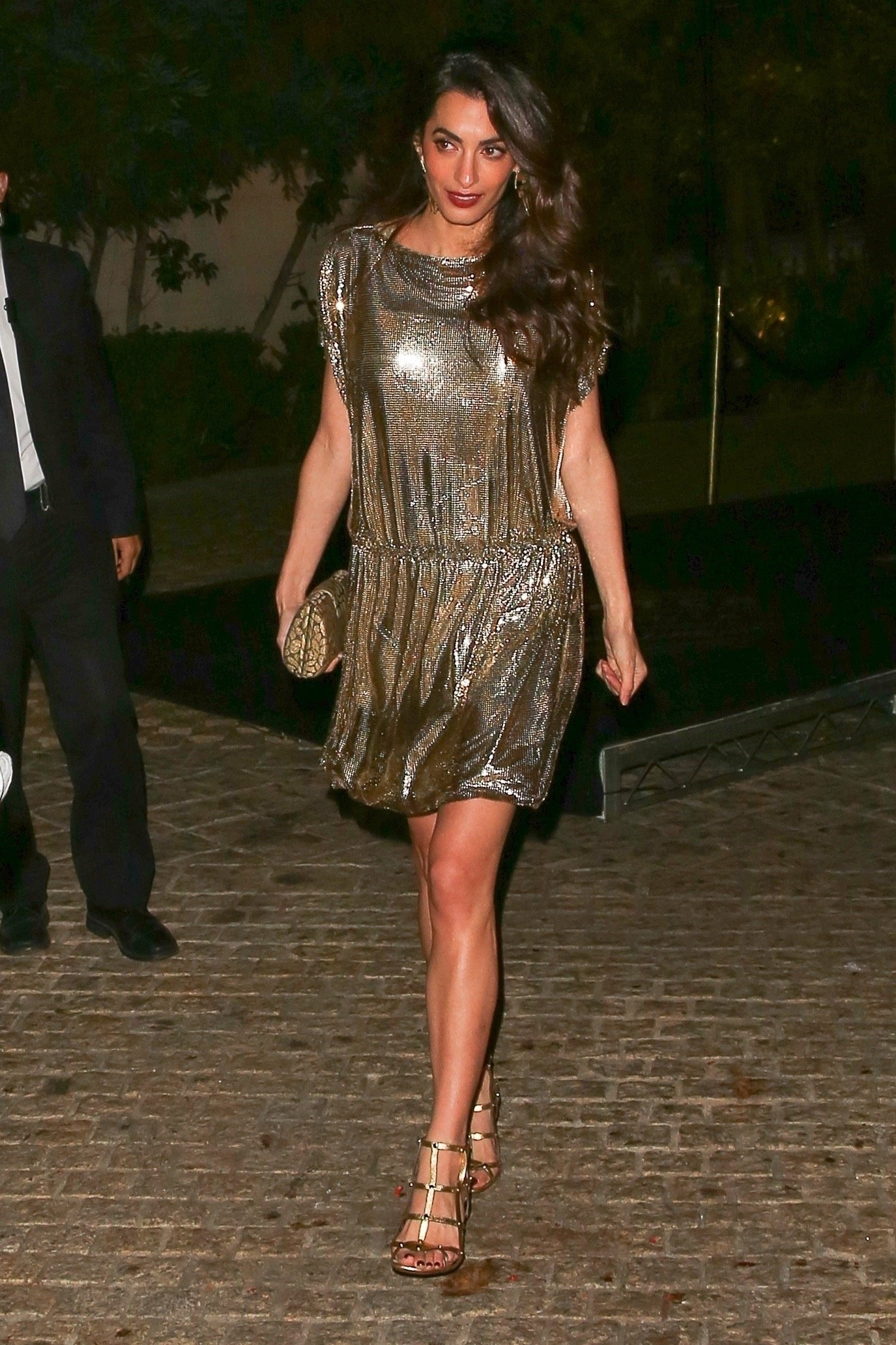 *EXCLUSIVE* ** RIGHTS: WORLDWIDE EXCEPT IN ITALY ** Los Angeles, CA  - New mom Amal Clooney looking amazing at the Vintage Collection Versace Party hosted at Michael Jackson's death mansion in Beverly Hills.  Pictured: Amal Clooney  BACKGRID USA 6 OCTOBER 2017   USA: +1 310 798 9111 / usasales@backgrid.com  UK: +44 208 344 2007 / uksales@backgrid.com  *UK Clients - Pictures Containing Children Please Pixelate Face Prior To Publication*, Image: 352036221, License: Rights-managed, Restrictions: , Model Release: no, Credit line: Profimedia, AKM-GSI