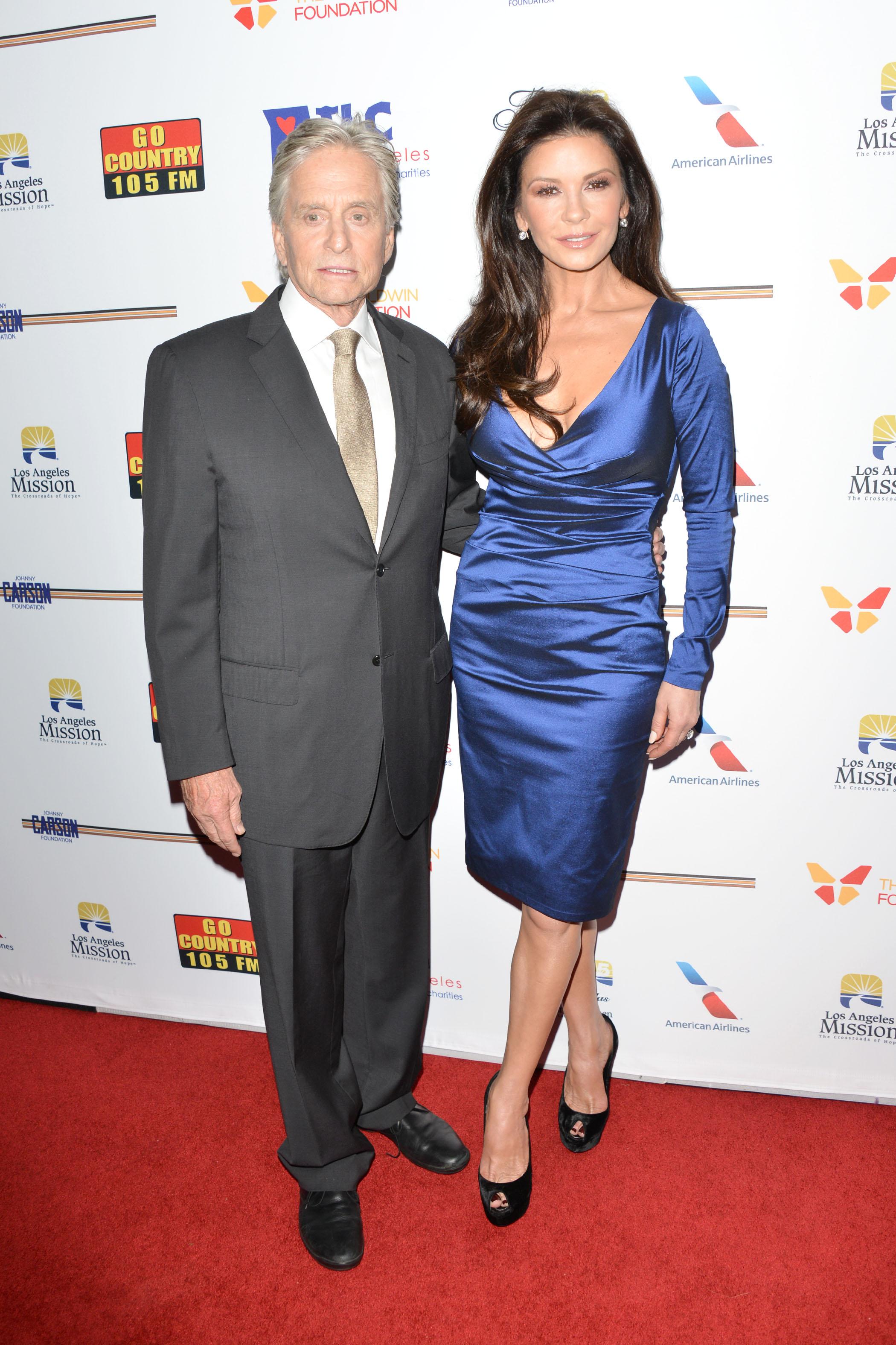 7th Annual Legacy of Vision Gala <P> Pictured: Michael Douglas and Catherine Zeta-Jones <B>Ref: SPL1618444  091117  </B><BR/> Picture by: Tony DiMaio / Splash News<BR/> </P><P> <B>Splash News and Pictures</B><BR/> Los Angeles:310-821-2666<BR/> New York:212-619-2666<BR/> London:870-934-2666<BR/> <span id=
