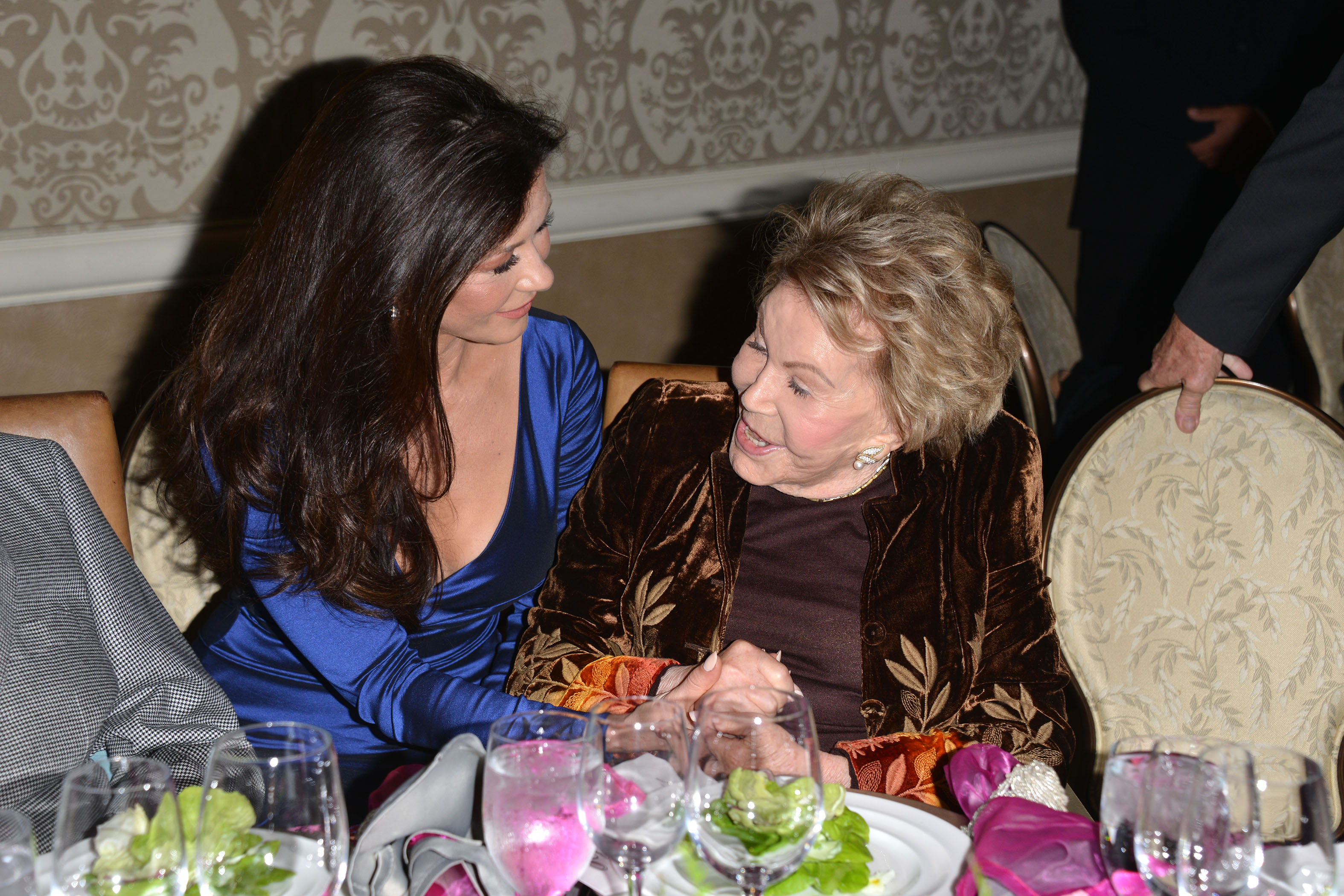 7th Annual Legacy of Vision Gala <P> Pictured: Anne Douglas and Catherine Zeta-Jones <B>Ref: SPL1618444  091117  </B><BR/> Picture by: Tony DiMaio / Splash News<BR/> </P><P> <B>Splash News and Pictures</B><BR/> Los Angeles:310-821-2666<BR/> New York:212-619-2666<BR/> London:870-934-2666<BR/> <span id=