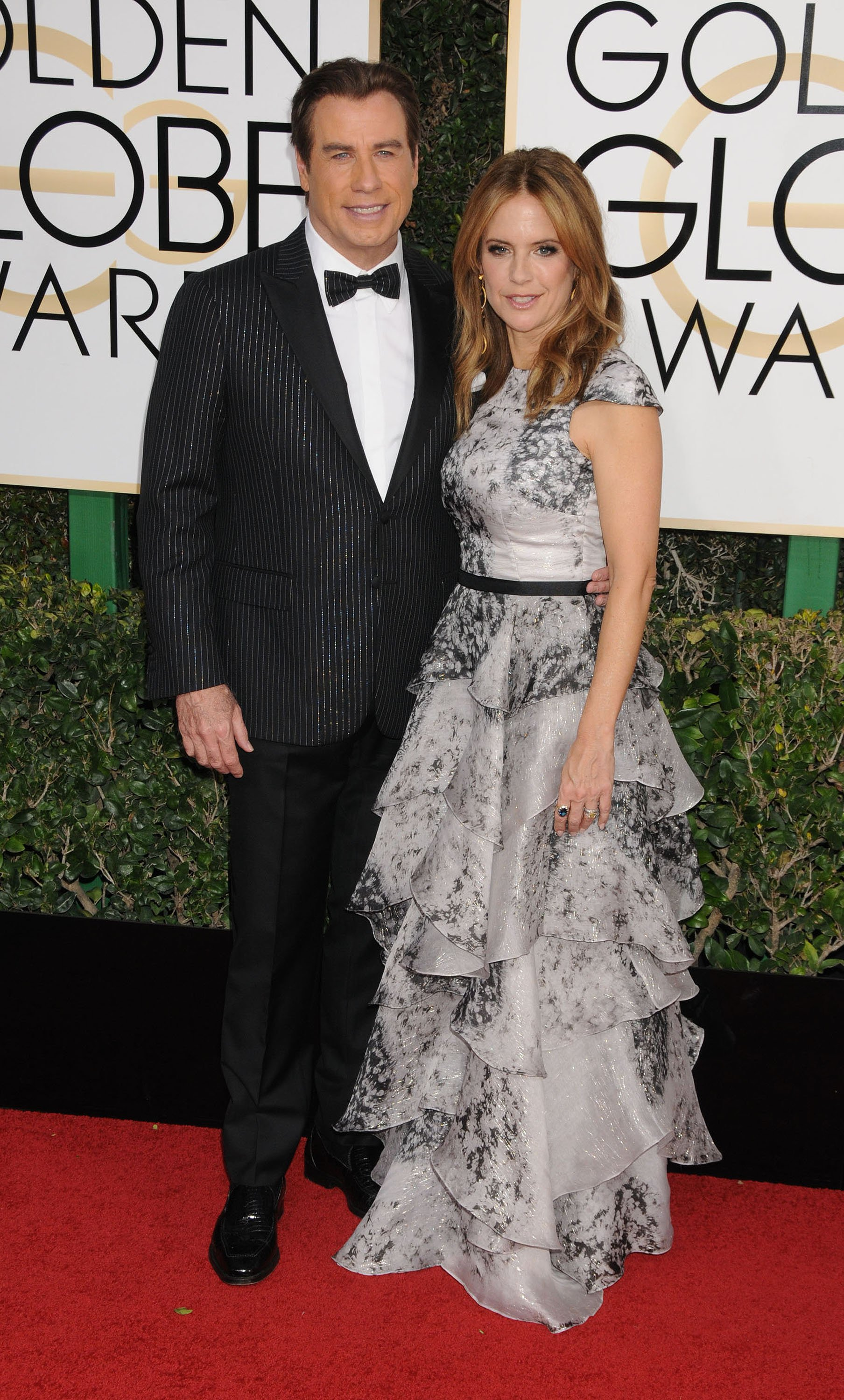 January 8, 2017 - Los Angeles, California, United States - January 8th 2017 - Los Angeles California USA - Actor  JOHN TRAVOLTA, Actress KELLY PRESTON     at the  74th Golden Globe Awards - Arrivals  held at the Beverly Hilton Hotel, Los Angeles  CA, Image: 310597425, License: Rights-managed, Restrictions: , Model Release: no, Credit line: Profimedia, Zuma Press - Archives