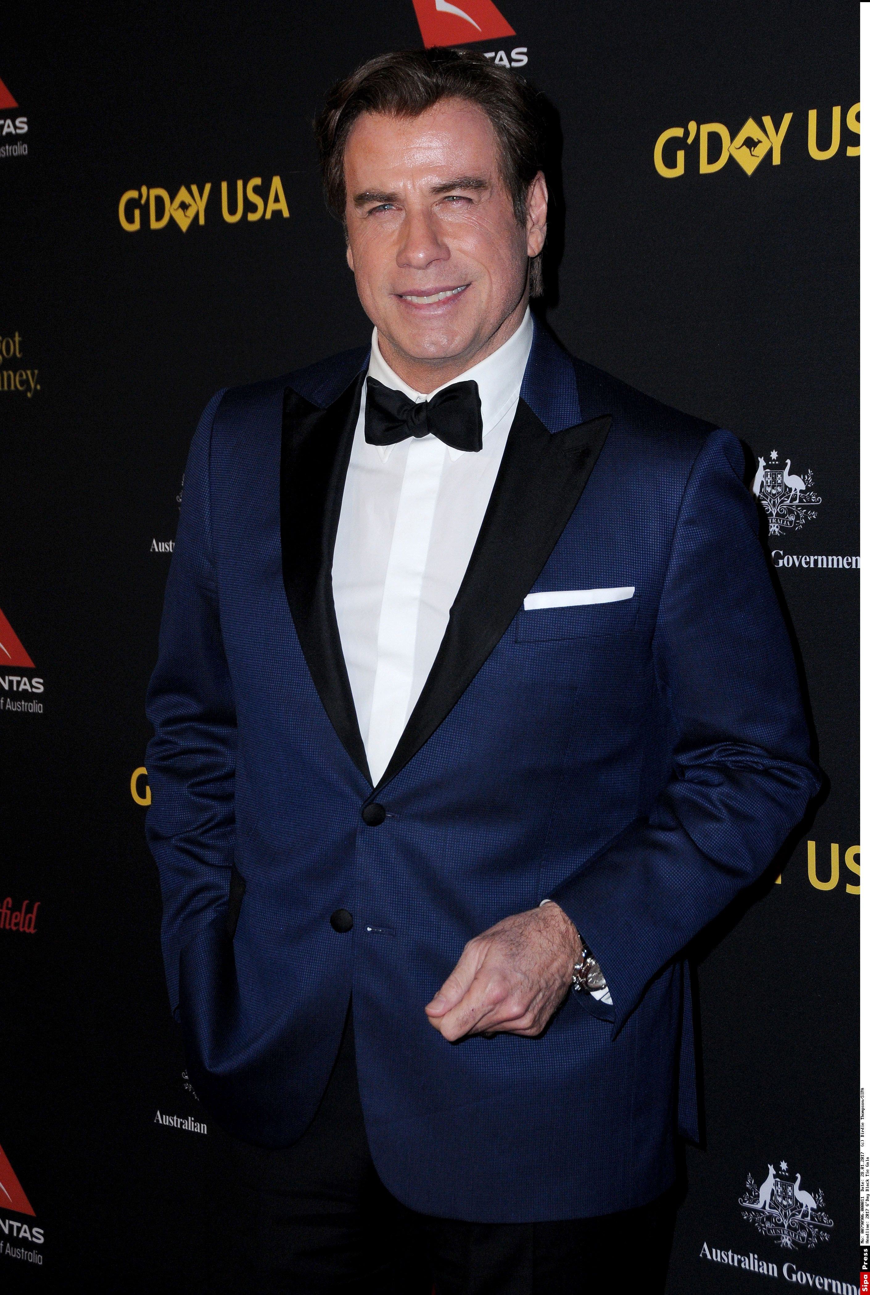 28 January 2017 - Hollywood, California - John Travolta. 2017 G'Day Black Tie Gala held at The Dolby Theater. Photo Credit: Birdie Thompson/AdMedia//ADMEDIA_adm_2017GDayUSALAGala_BT_011/Credit:Birdie Thompson/SIPA/1701291014, Image: 313545426, License: Rights-managed, Restrictions: , Model Release: no, Credit line: Profimedia, TEMP Sipa Press