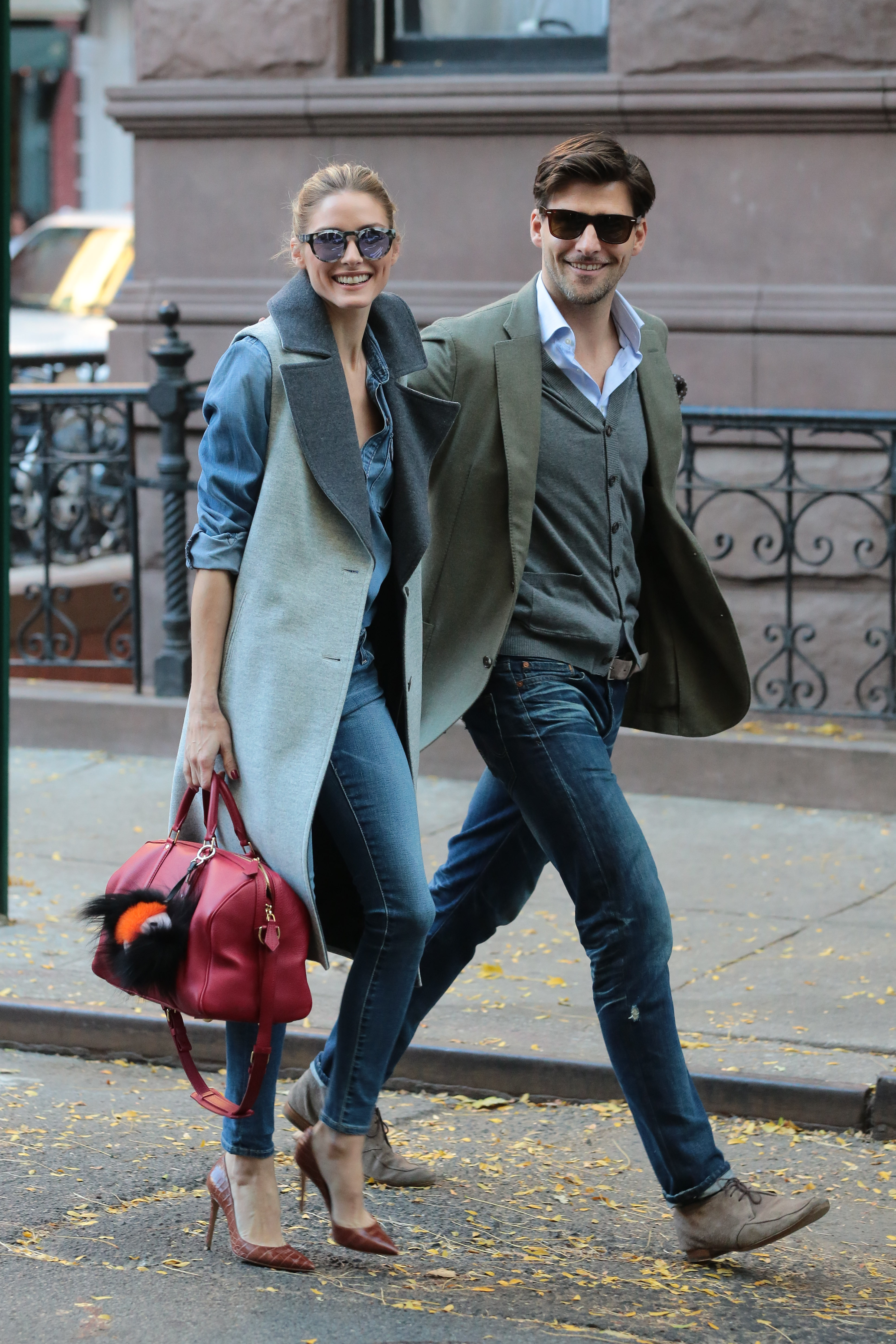 Olivia Palermo and her husband Johannes Huebl leaves Sant Ambroeus restaurant in West Village New York November 3, 2015 <P> Pictured: Olivia Palermo, Johannes Huebl <B>Ref: SPL1167670  031115  </B><BR/> Picture by: NIGNY / Splash News<BR/> </P><P> <B>Splash News and Pictures</B><BR/> Los Angeles:310-821-2666<BR/> New York:212-619-2666<BR/> London:870-934-2666<BR/> <span id=