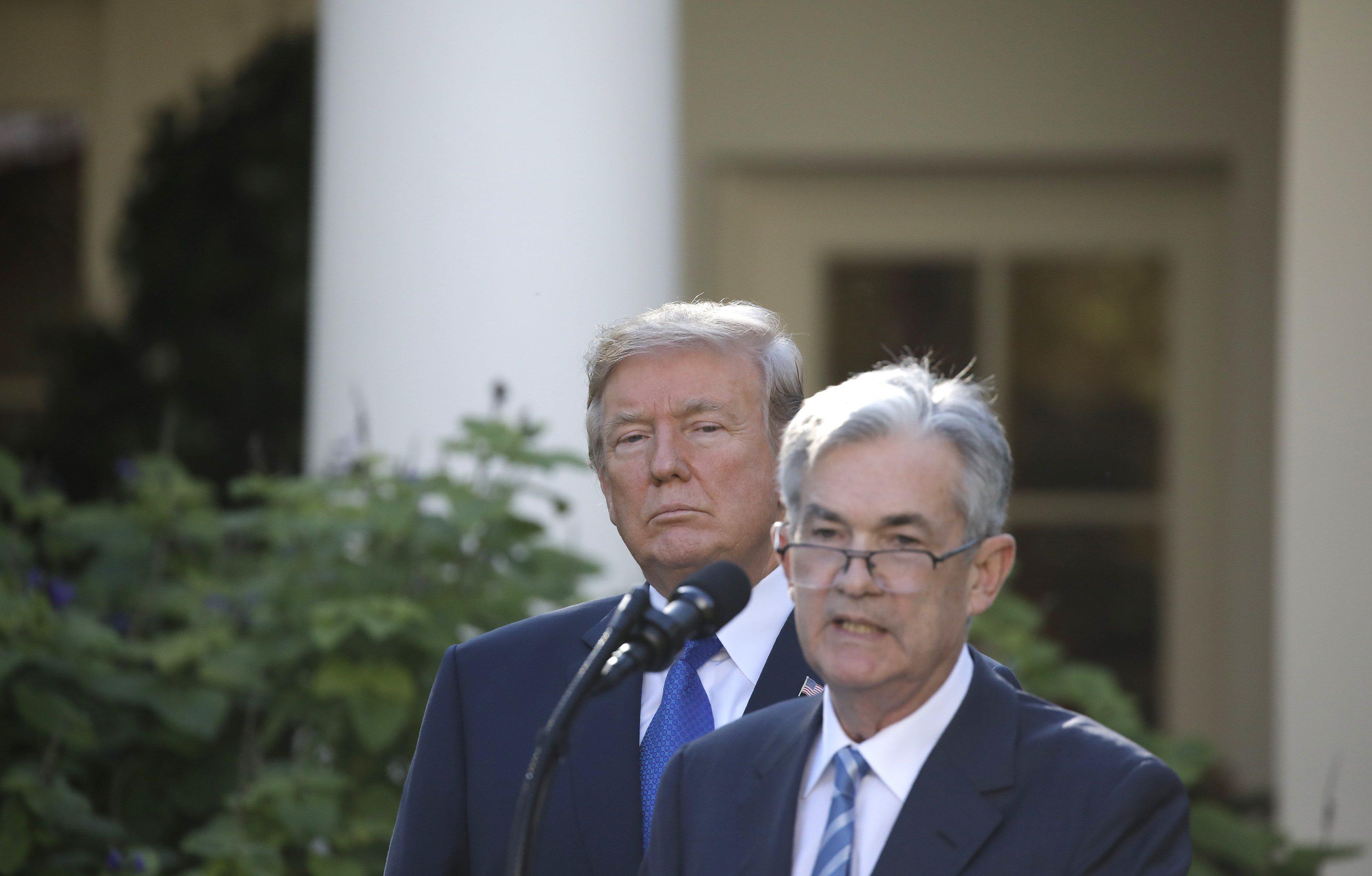 Donald Trump i Jerome Powell